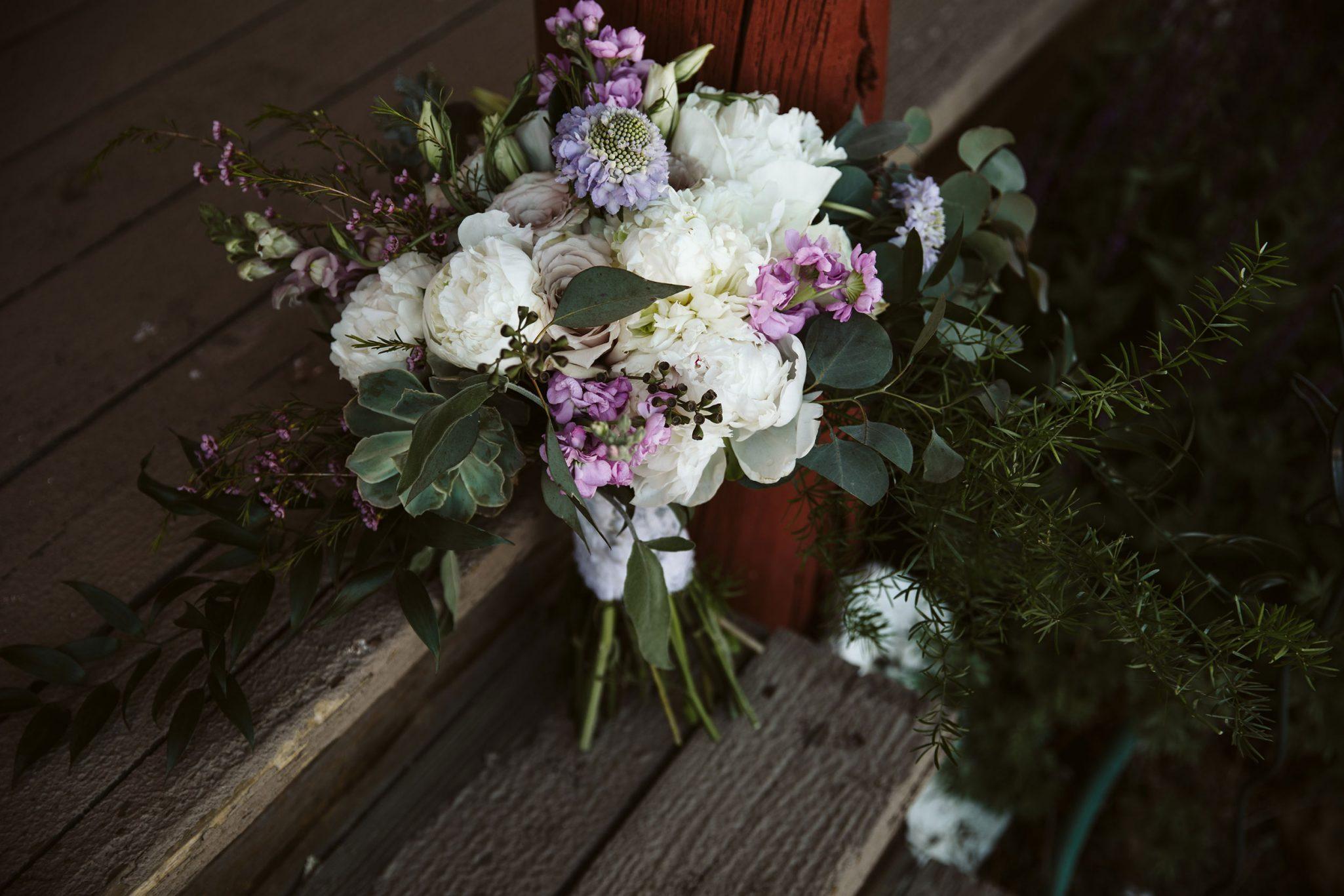 Flower bouquet by April's Garden | Durango Weddings Magazine