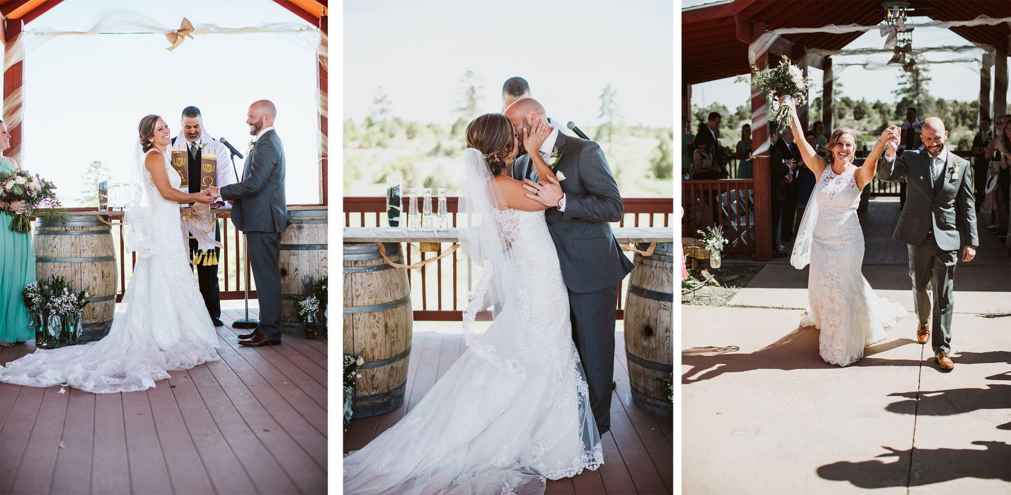 Ceremomy at Sophia Retreat Center | Durango Weddings Magazine