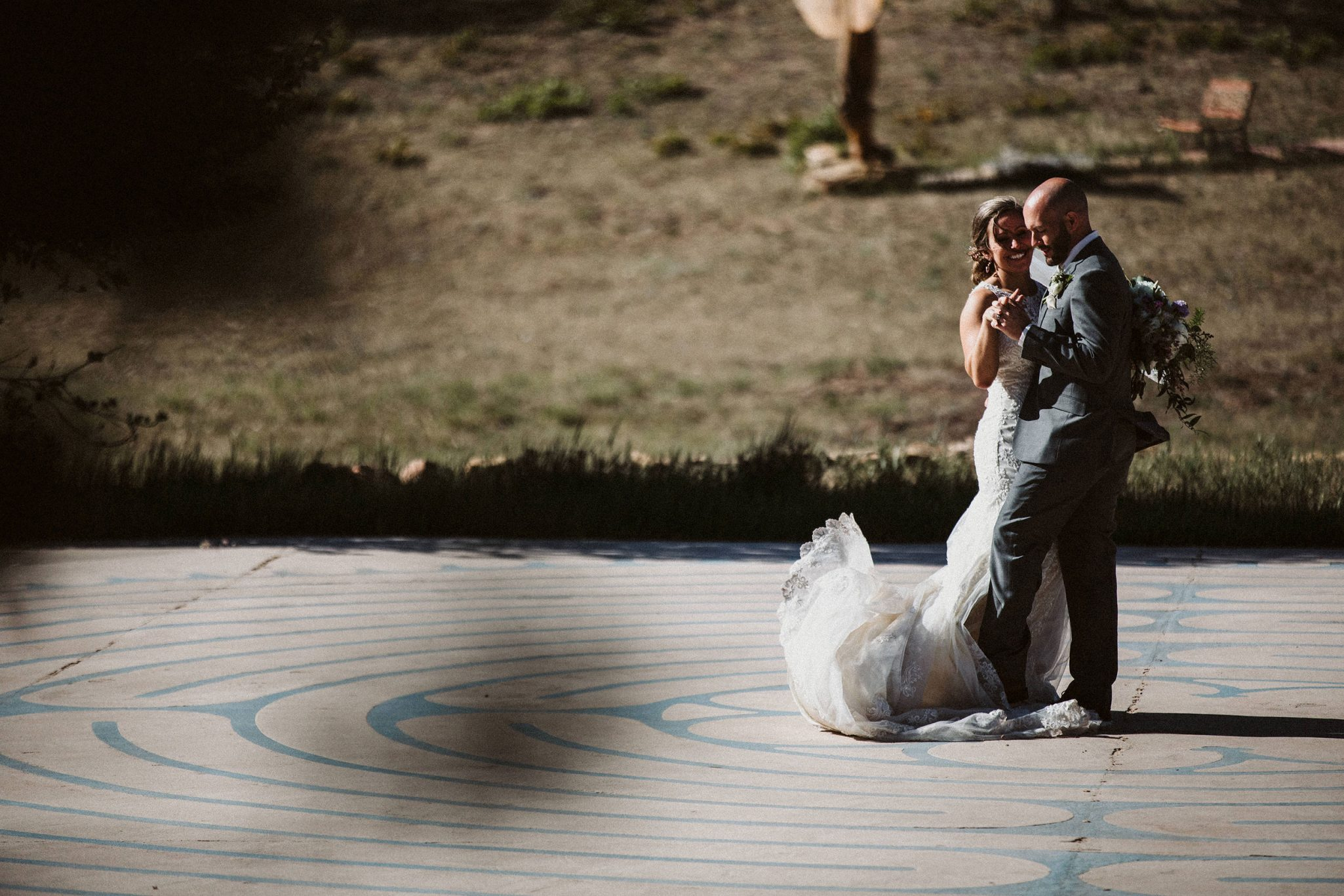 Happy bride & groom at Sophia Retreat Center | Durango Weddings Magazine