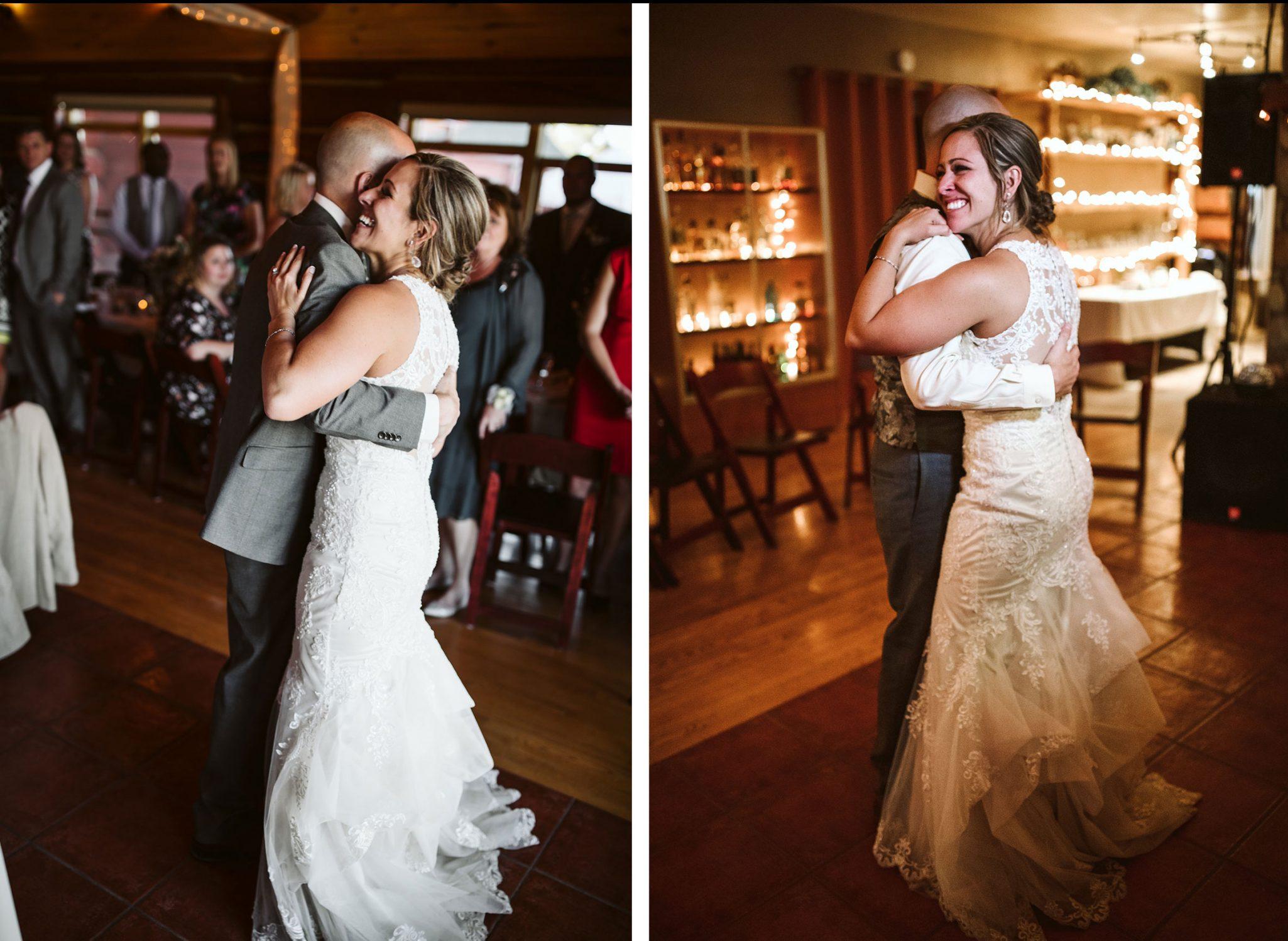 Reception dancing at Sophia Retreat Center | Durango Weddings Magazine