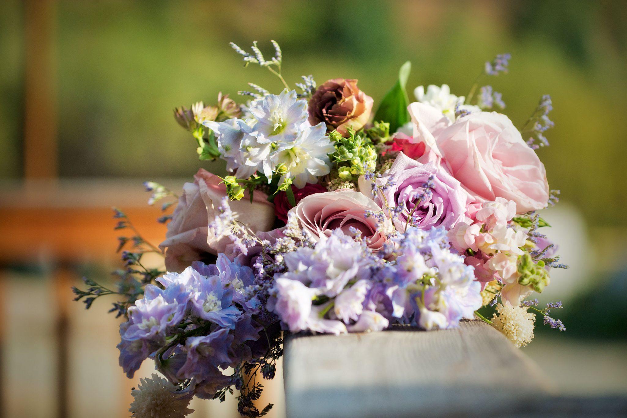 Flower bouquet from Mountain Adventure Wedding in Silverton, Colorado