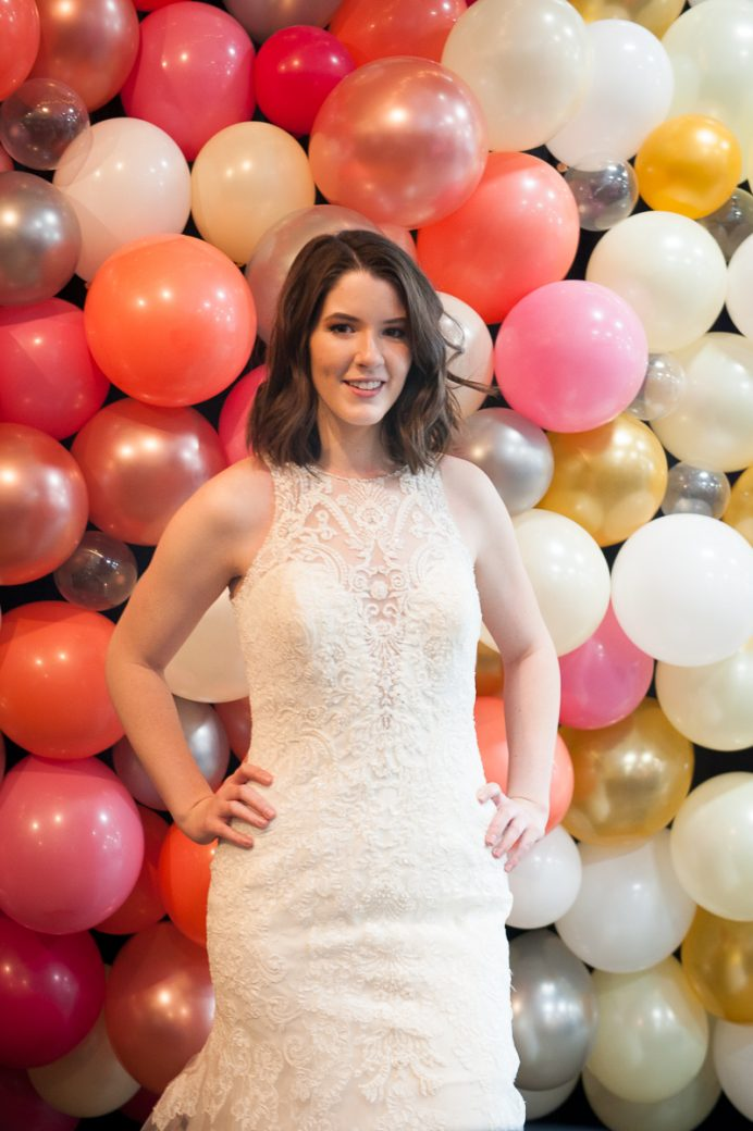 An Occasions Bride at the balloon wall