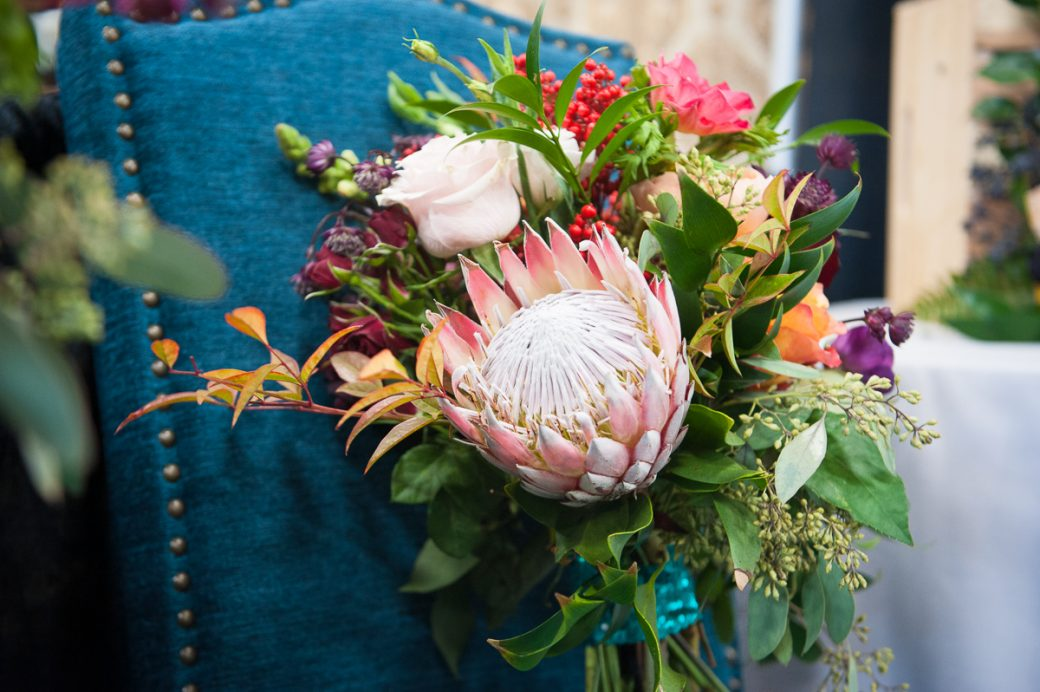 Pretty wedding bouquet by Adela Floral
