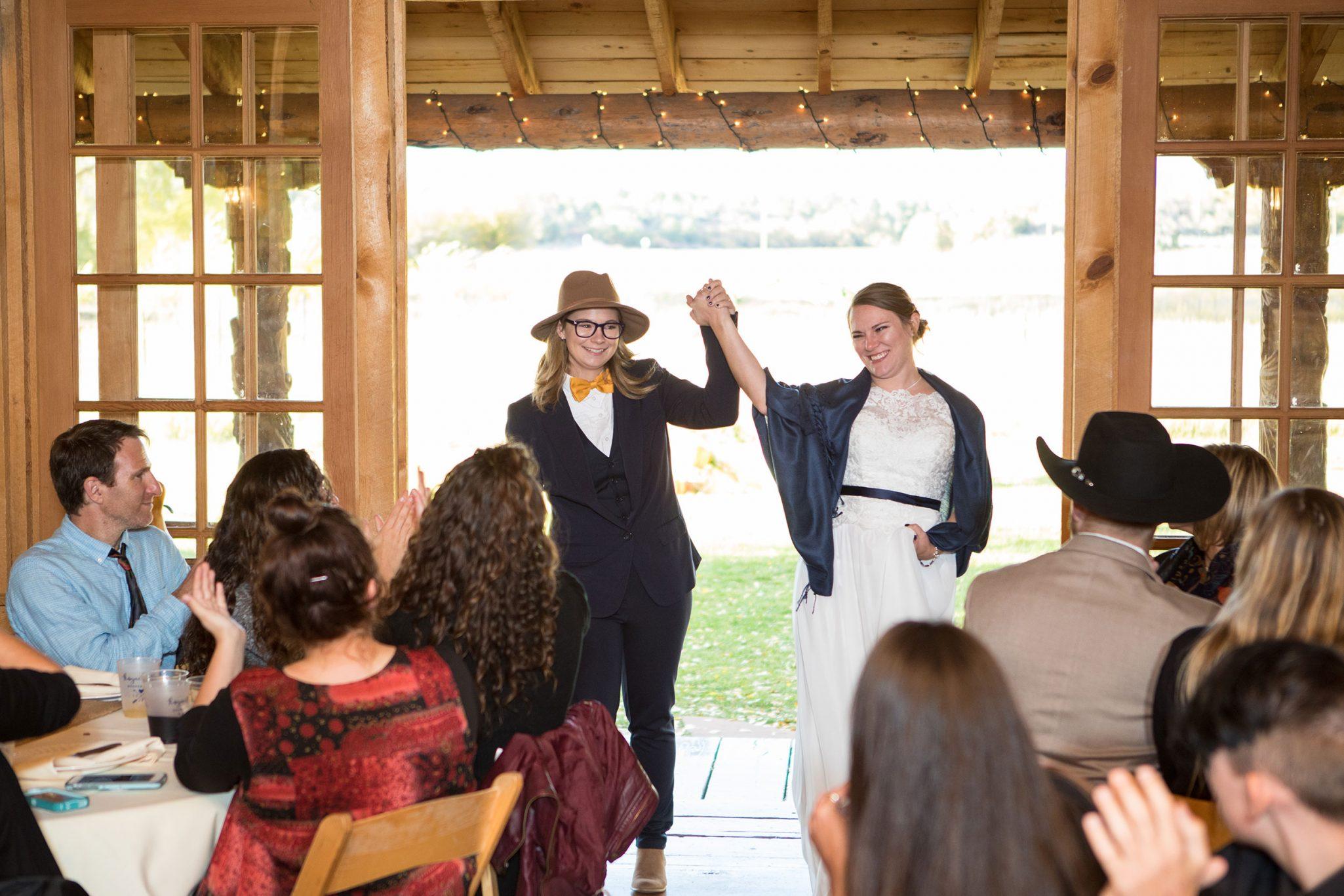 Bride + Bride wedding in the Mountains, Durango Colorado
