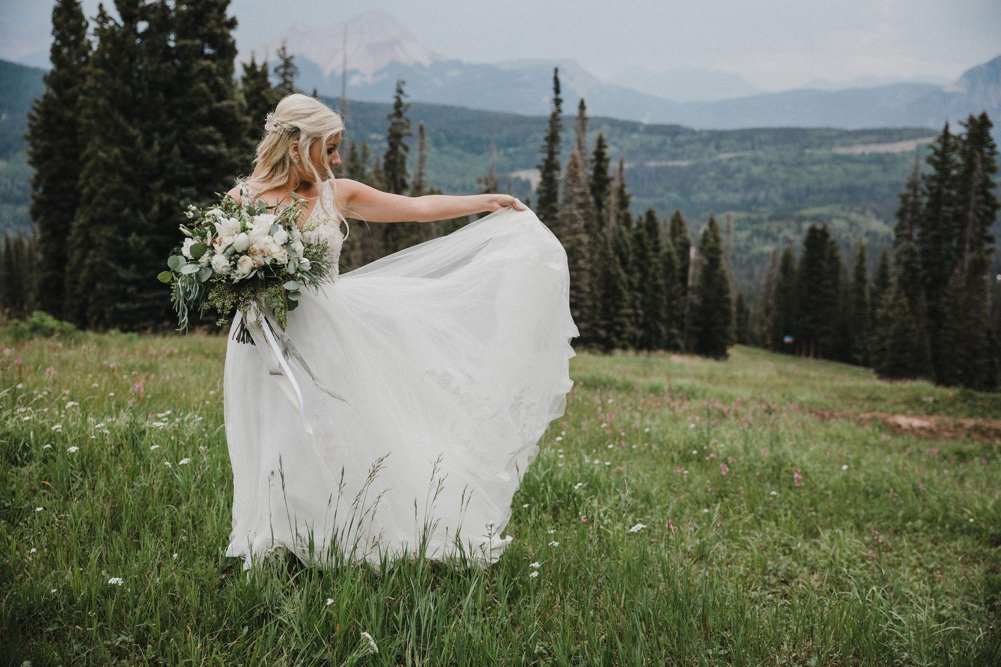 A Perfectly Simplistic Mountain Wedding at Purgatory Resort, Durango Colorado