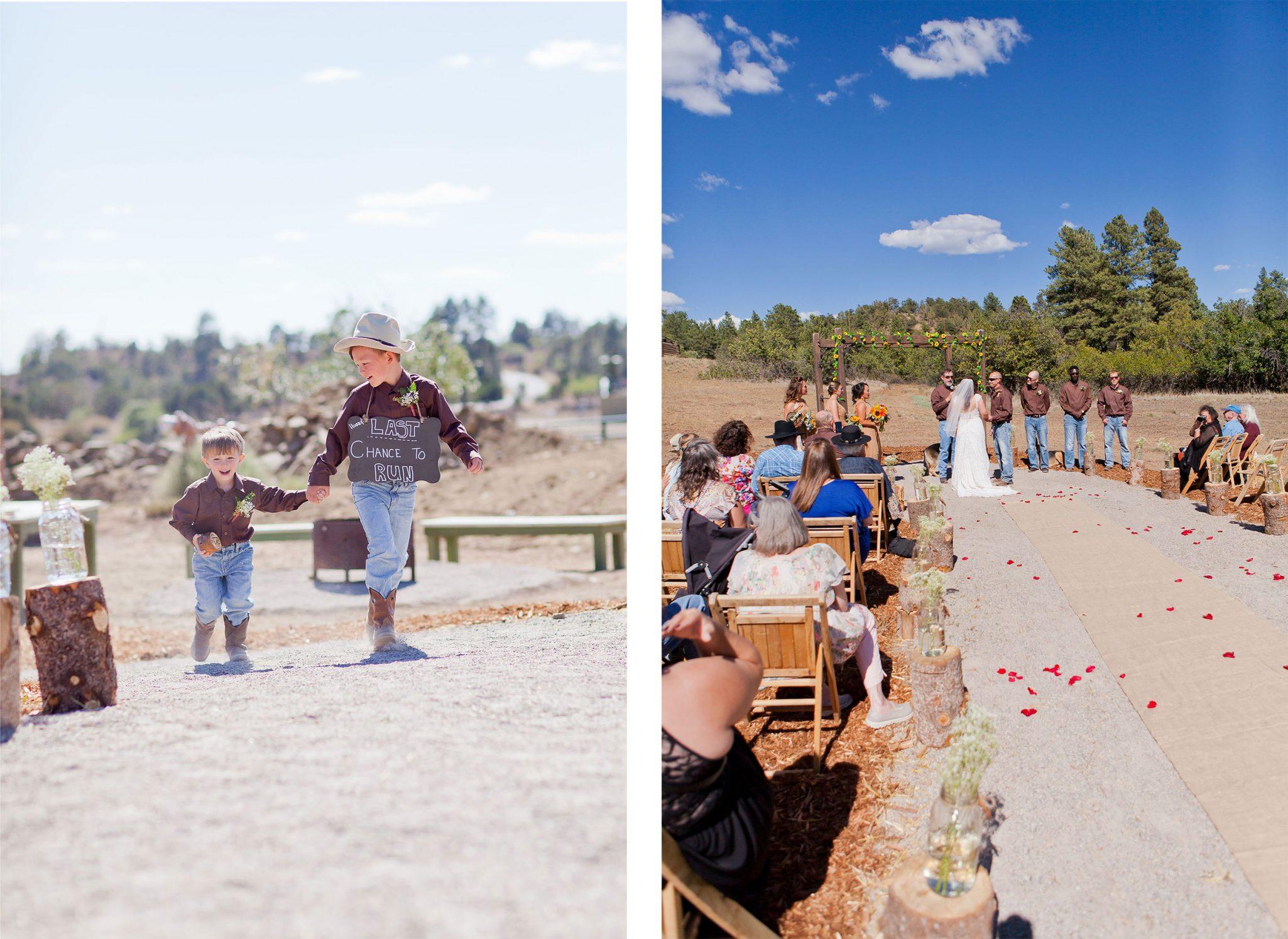 Reising Stage wedding ceremony   Durango Weddings Magazine