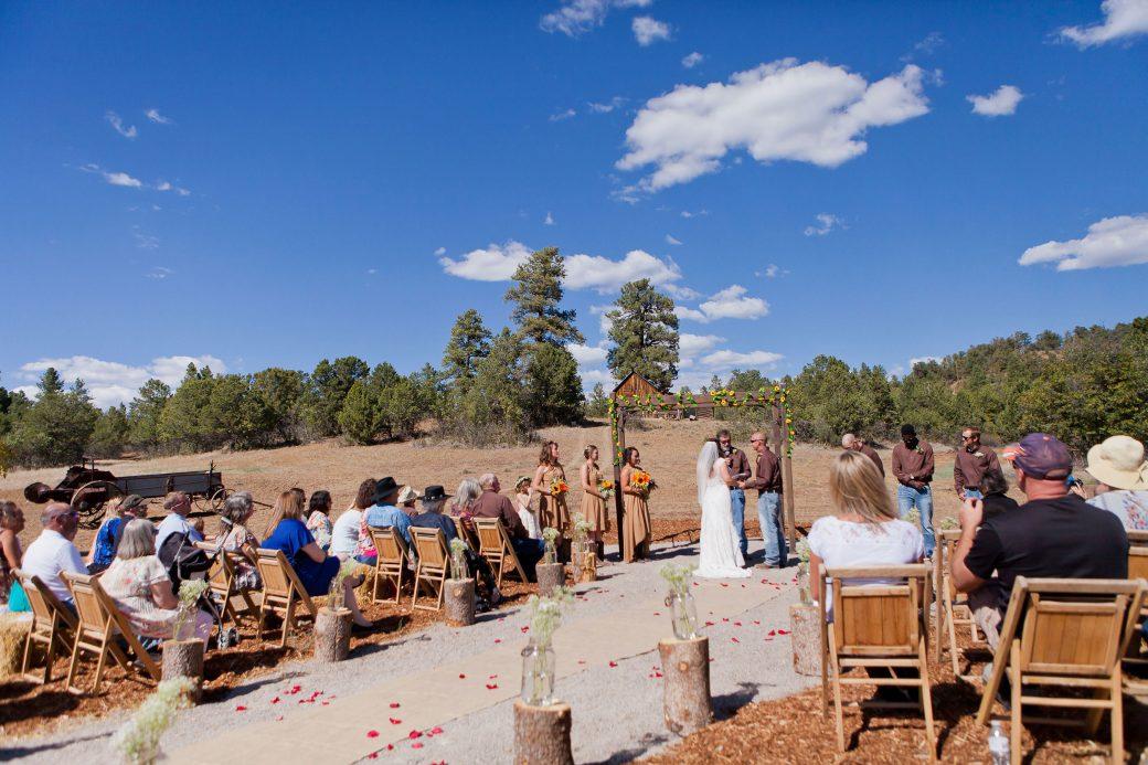 Bridesmaids at Reising Stage wedding venue | Durango Weddings Magazine