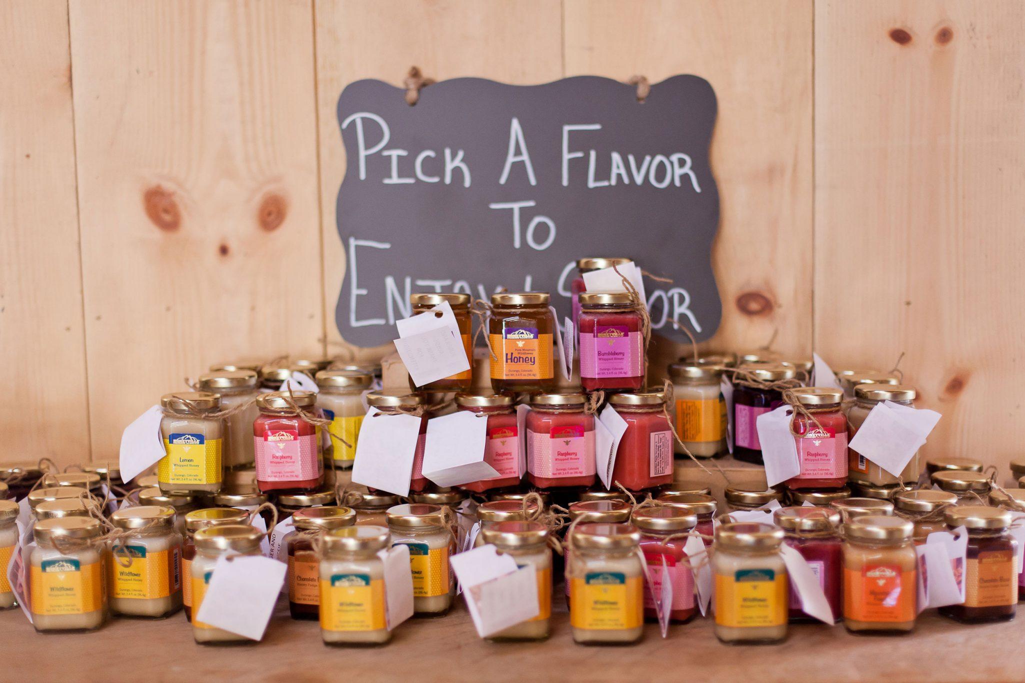 Honeyville wedding favors | Durango Weddings Magazine