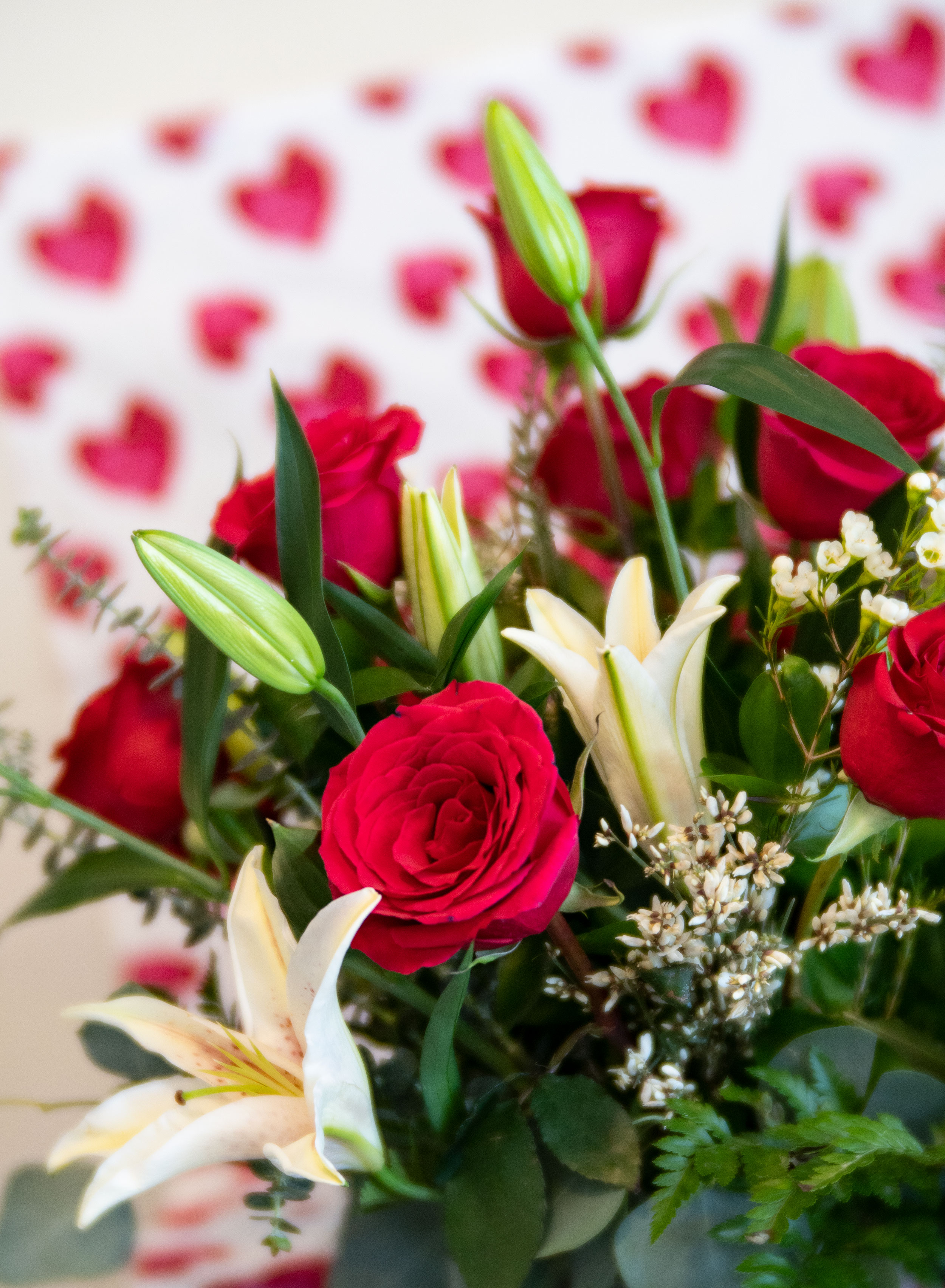 Red Roses & Lillies for Valentine's Day ideas, Durango, Colorado