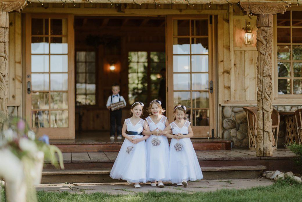 Flowergirls at Ridgewood Event Center, Durango