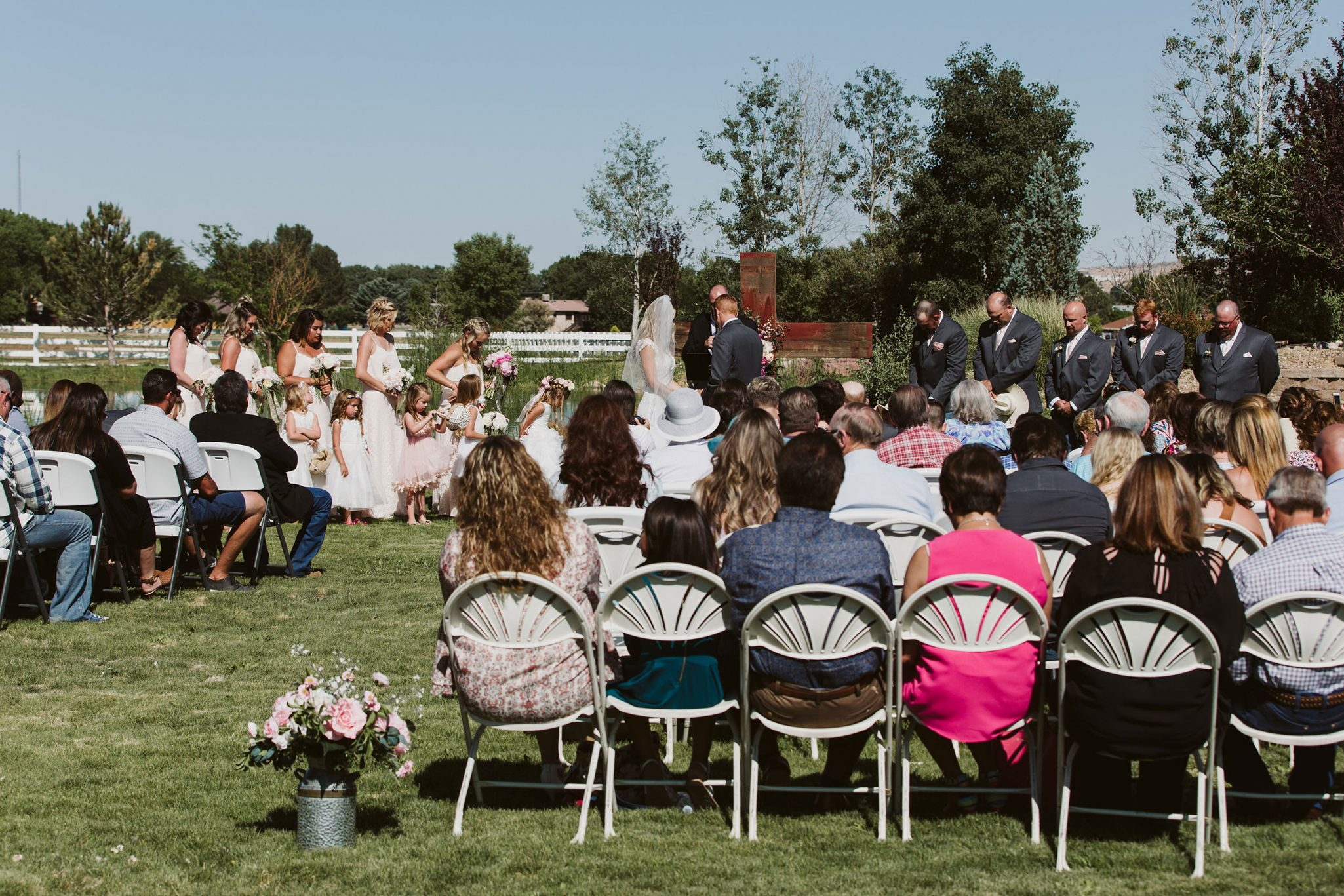 Ceremony at Triple J Ranch, New Mexico /. Durango Weddings Magazine