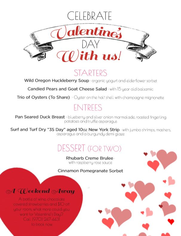 Valentine's Day at the Strater Hotel Durango