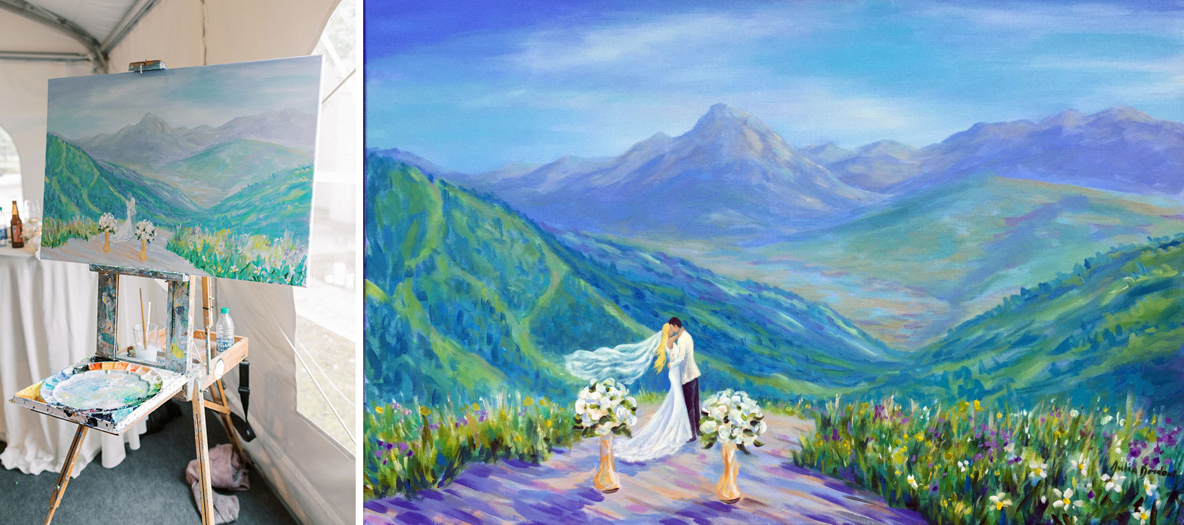 Wedding live painter