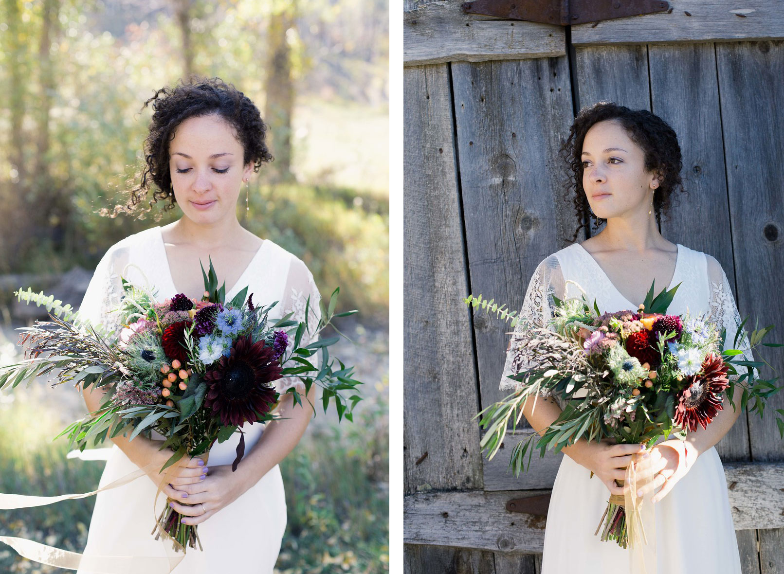 Stunning wedding bouquet by April's Garden