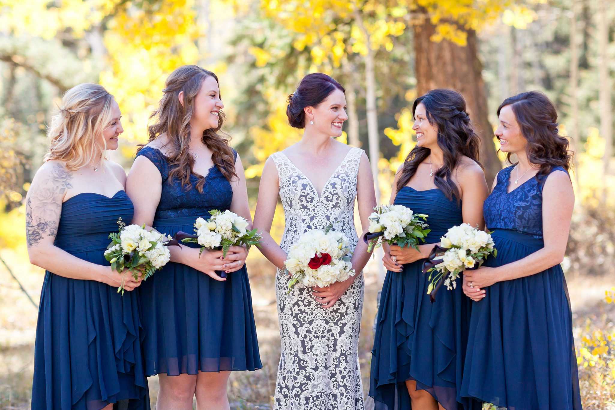 Bridesmaids in the fall