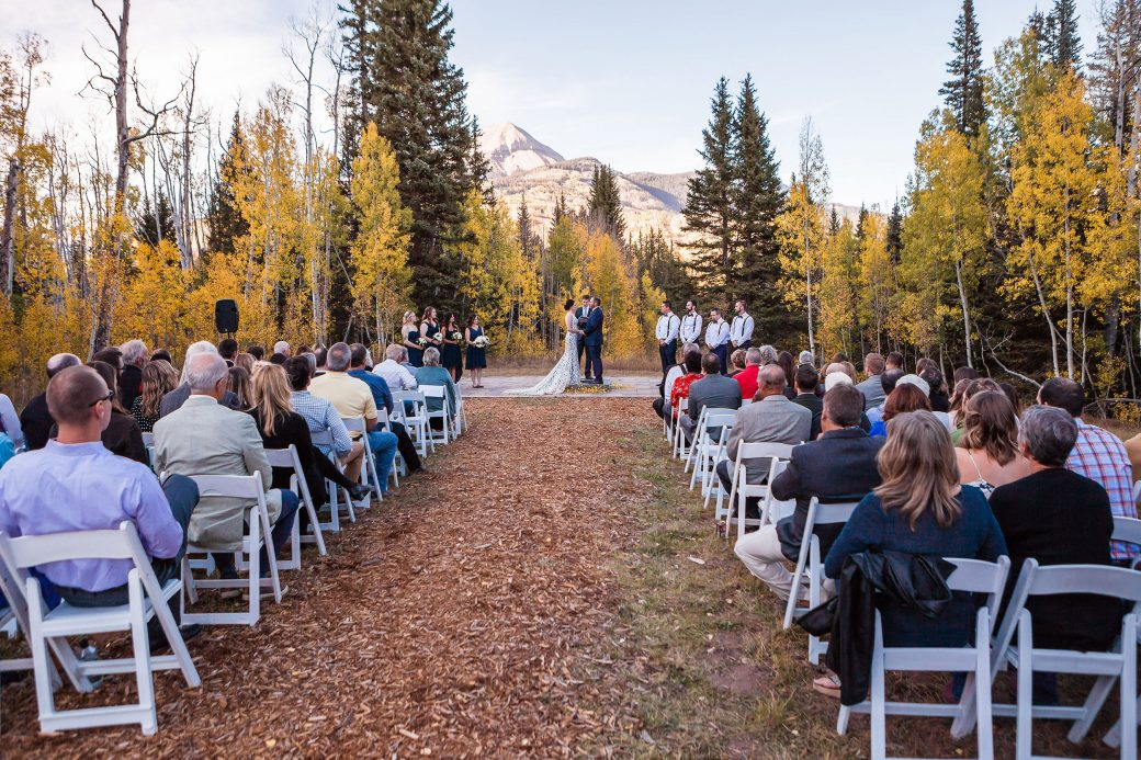 A Fall ceremony at Purgatory Resort, Durango, Colorado