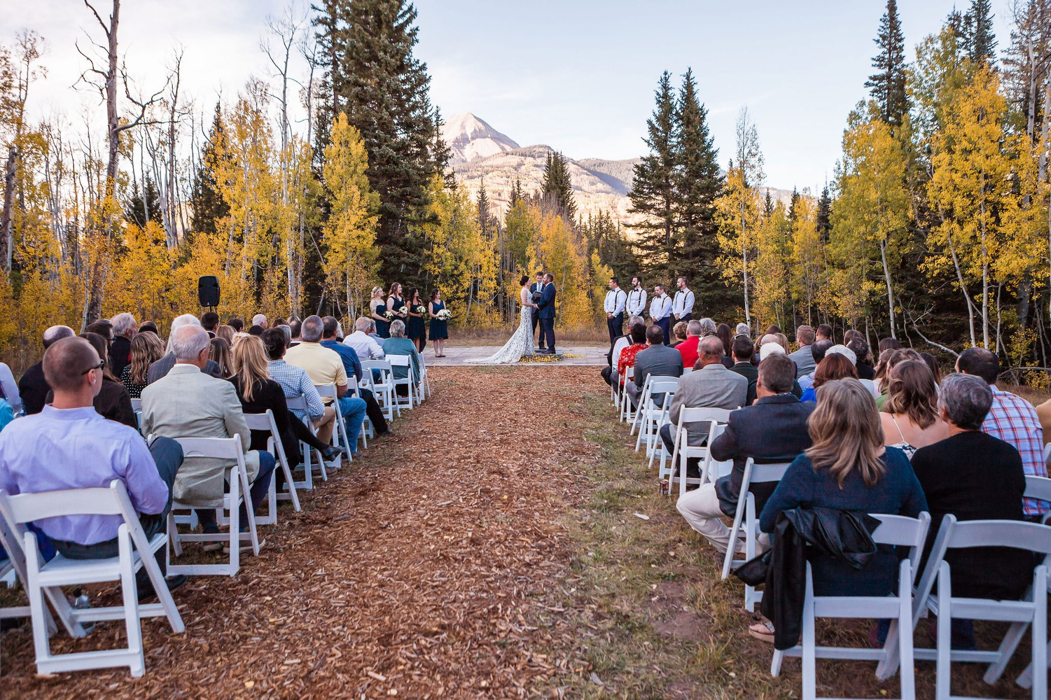 A Fall ceremony at Purgatory Resort, Durango, Colorado