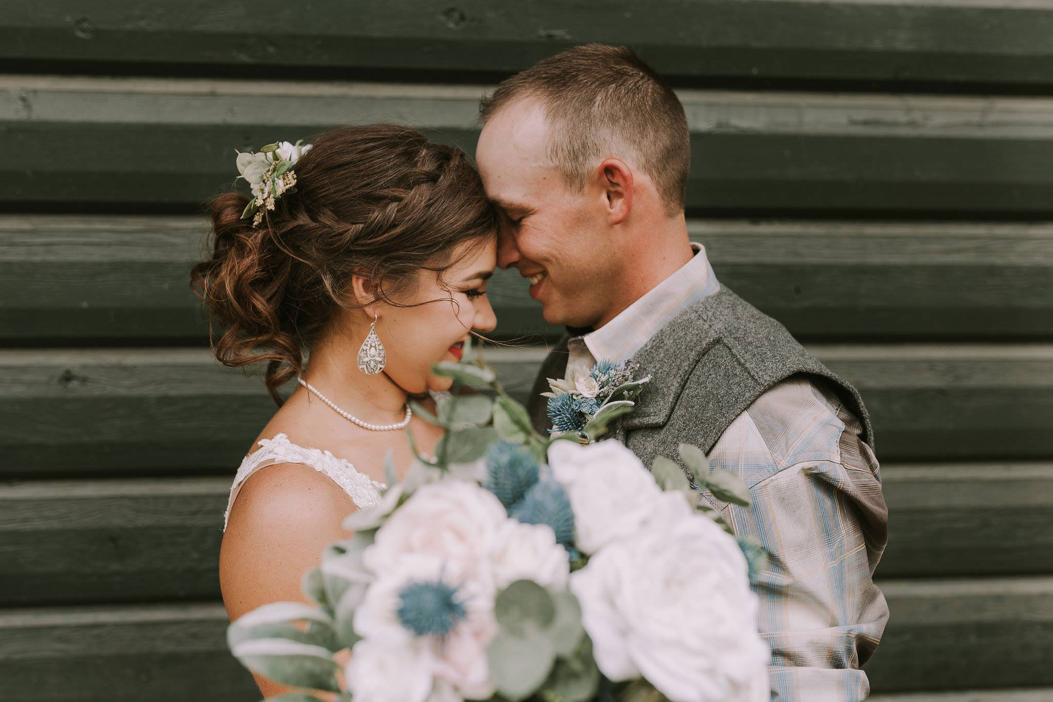 Bride & Groom at Paradise Ranch in Pagosa Springs, Colorado