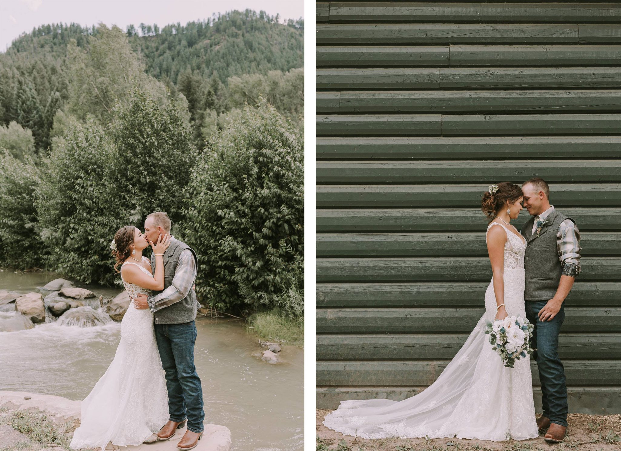 Bride & Groom | Rustic vibe at Paradise Ranch in Pagosa Springs, Colorado