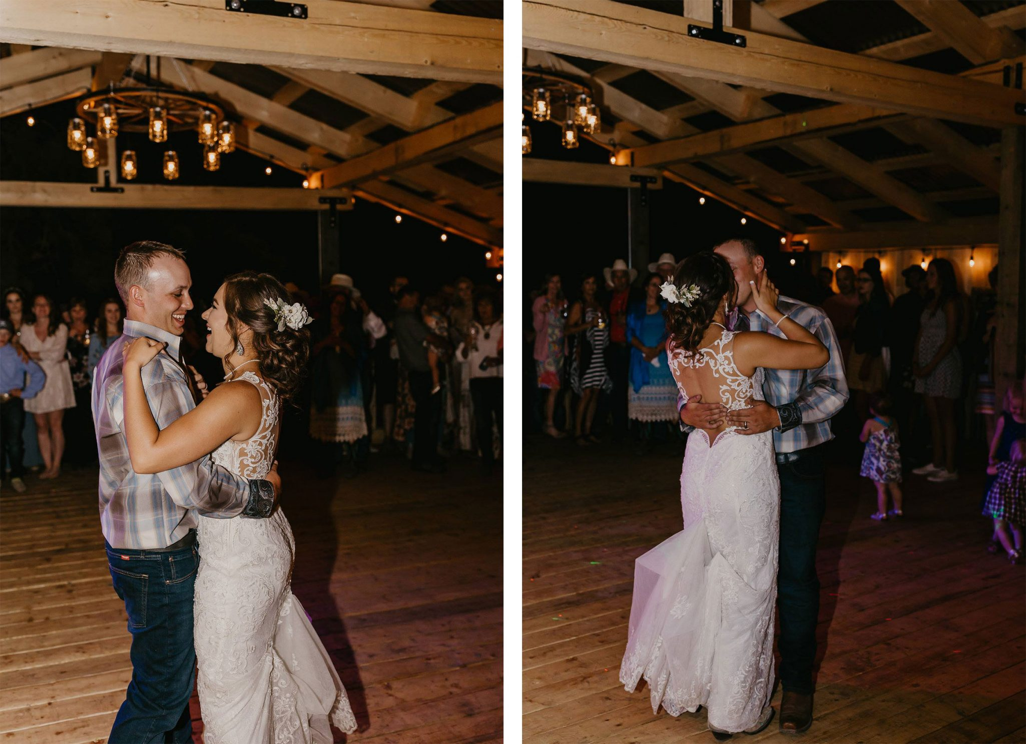 Bride & Groom first dance at Paradise Ranch, Pagosa Springs Colorado