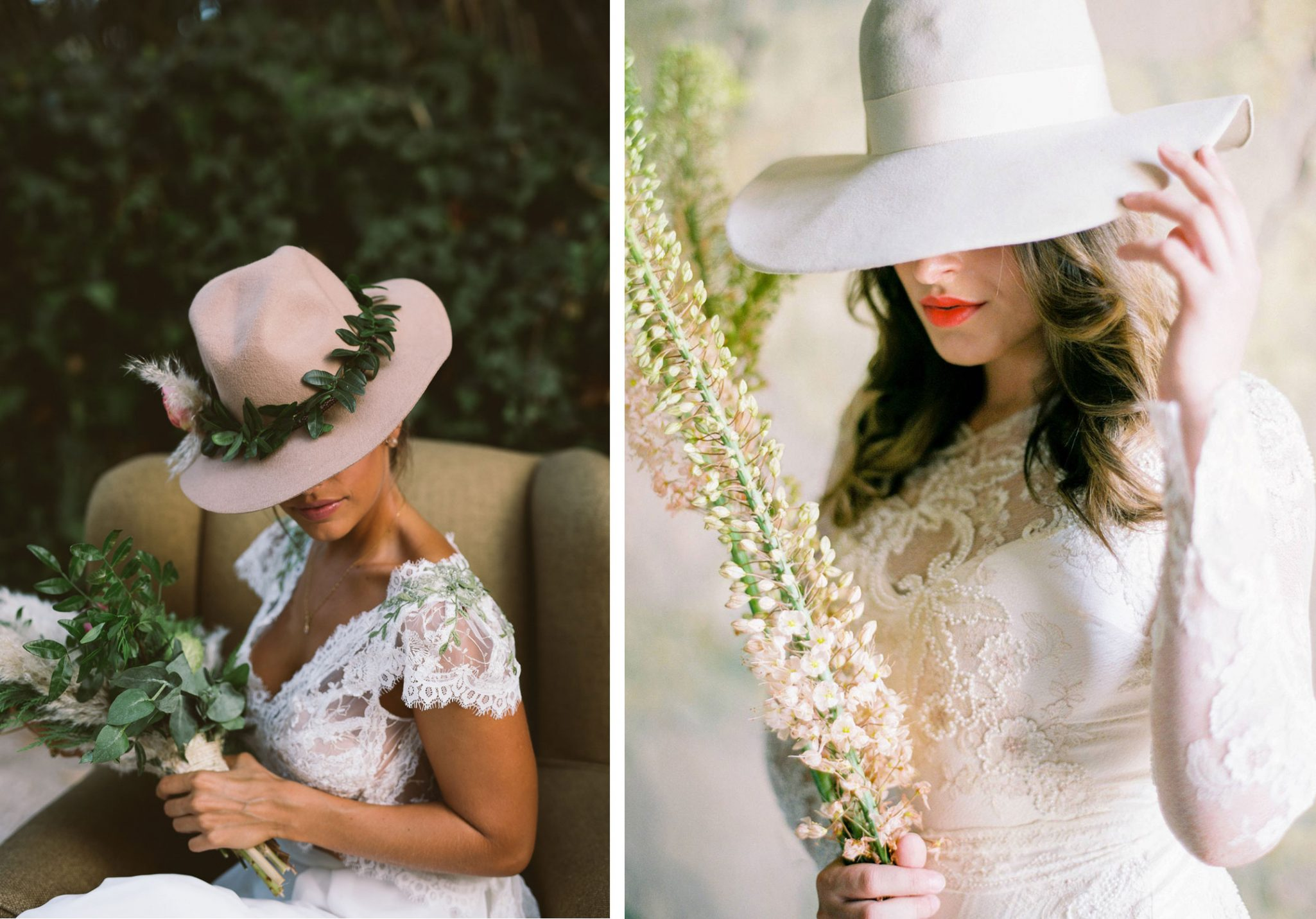 bridal fedora hat
