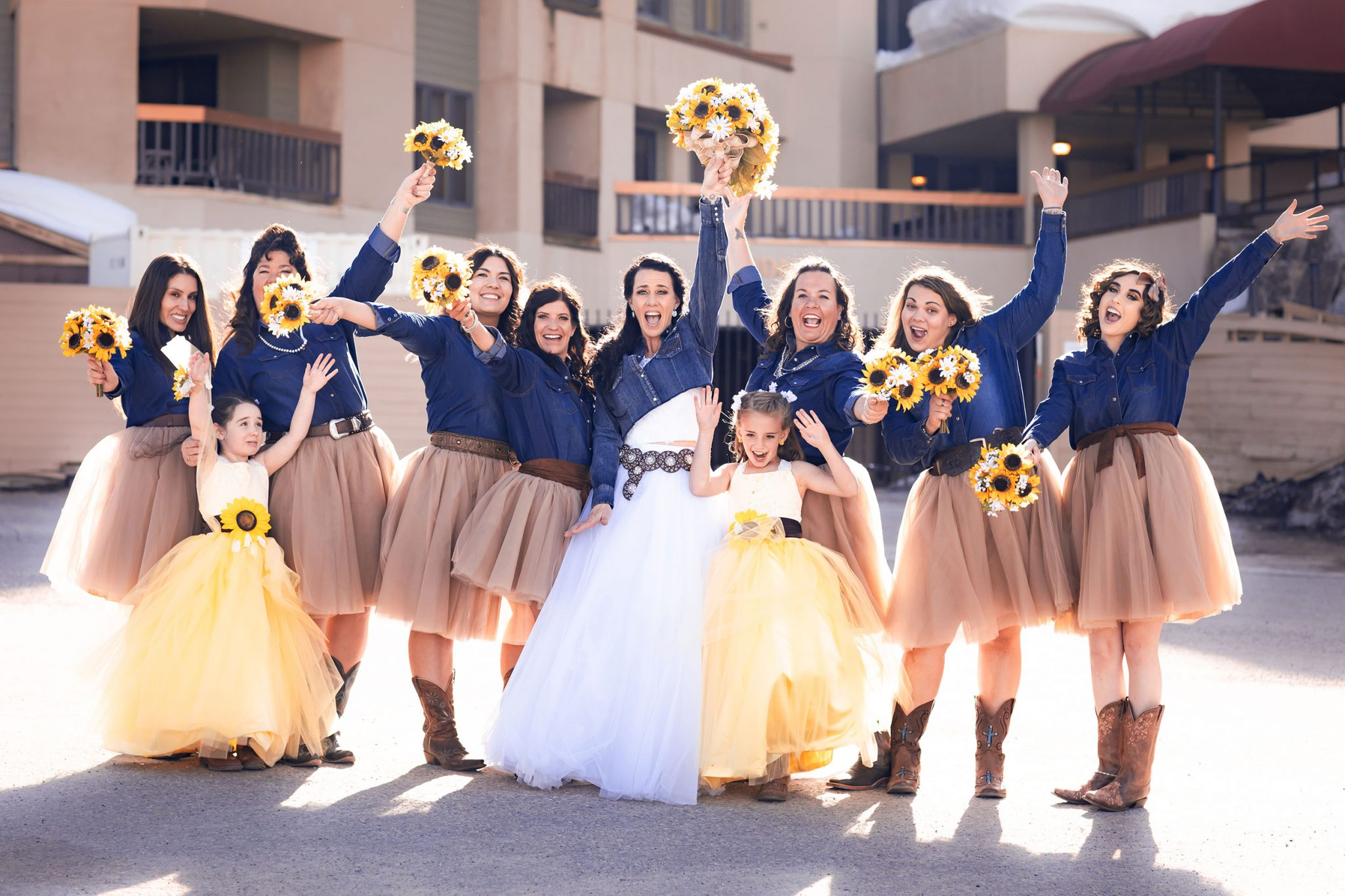 Country style bridesmaids