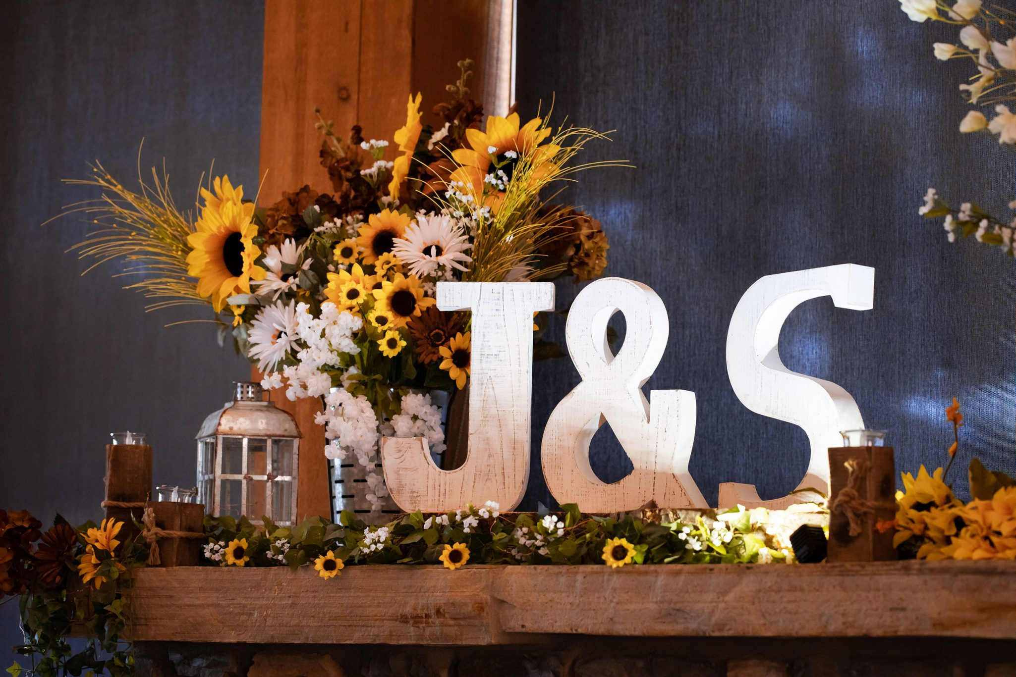 rustic sunflower decor