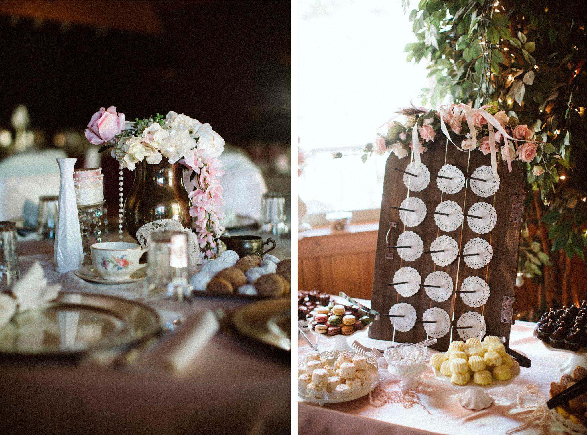 Classic vintage wedding decor