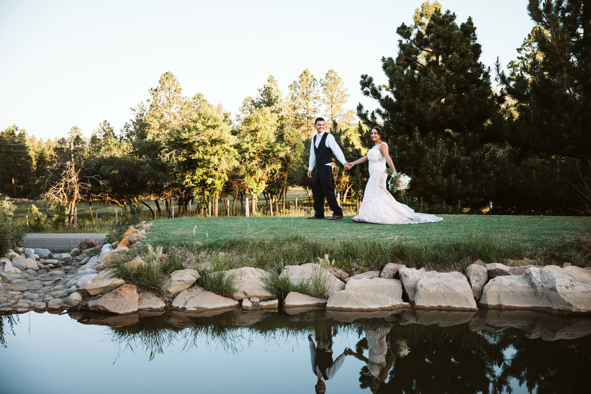 Bride & Groom at Echo Basin Ranch, Durango, Colorado