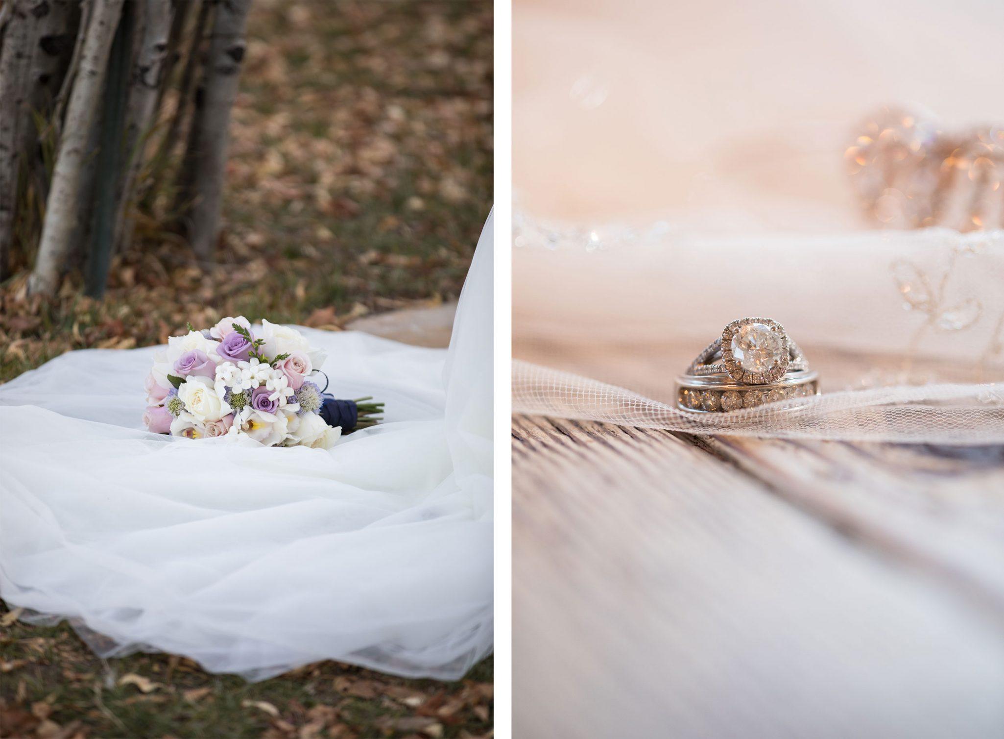 Wedding bouquet & ring