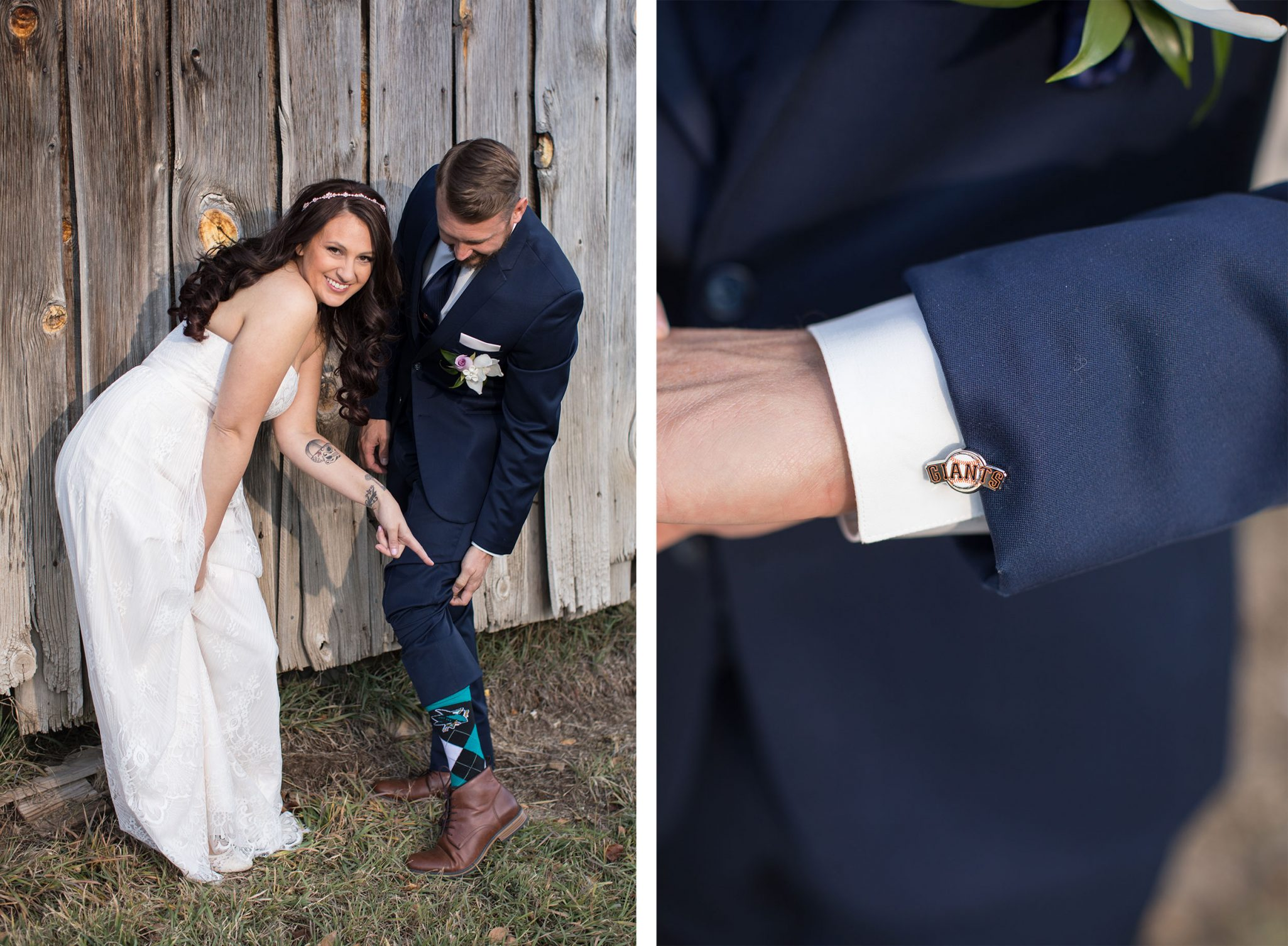 Groom's wedding socks & cuff links