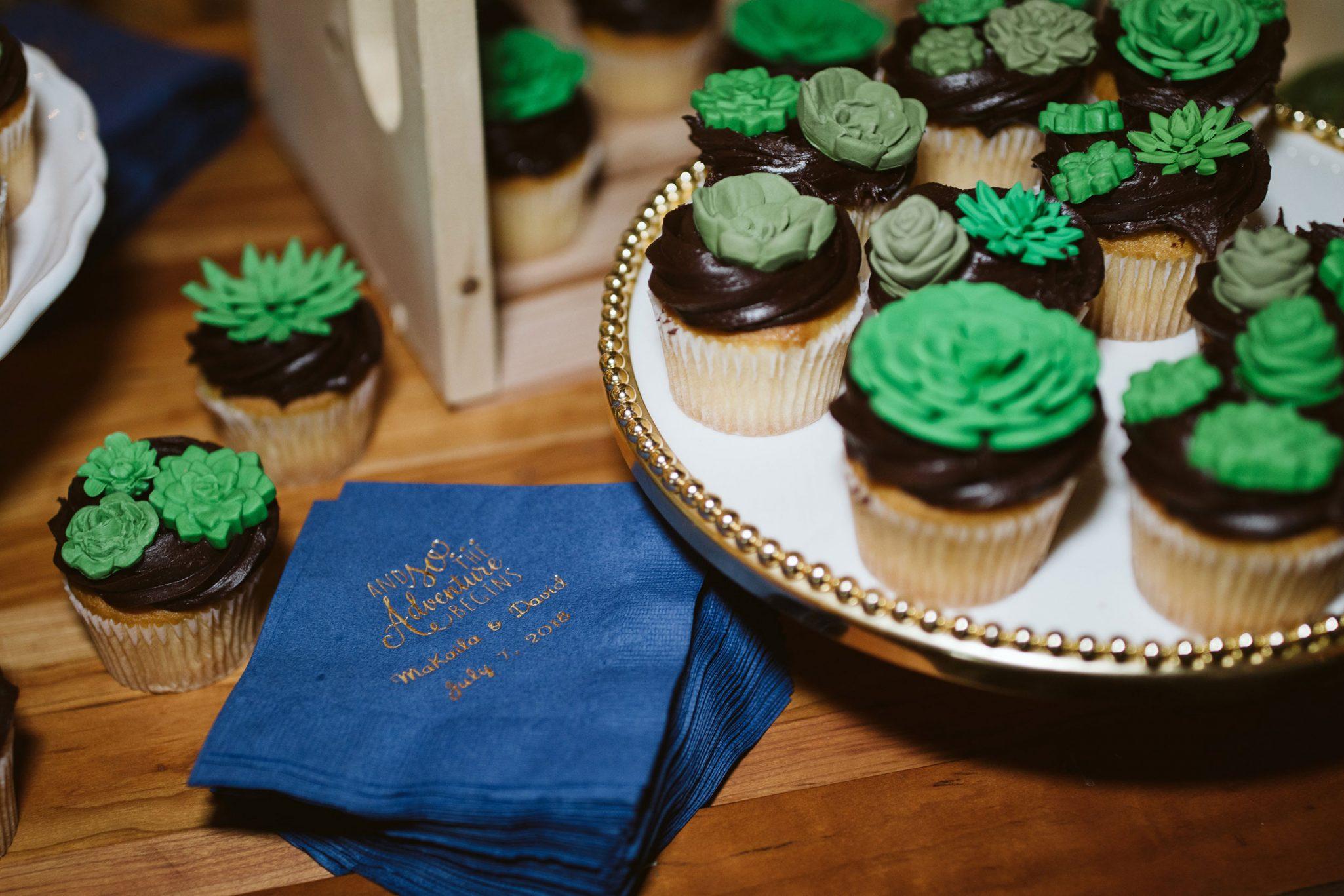 Reception details - cupcakes