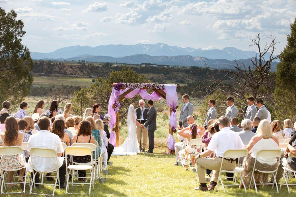 Ceremony at Ridgewood Event Center, Durango Colorado