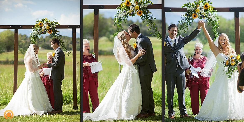 Ceremony - Earthy & Simple Wedding at Ridgewood -