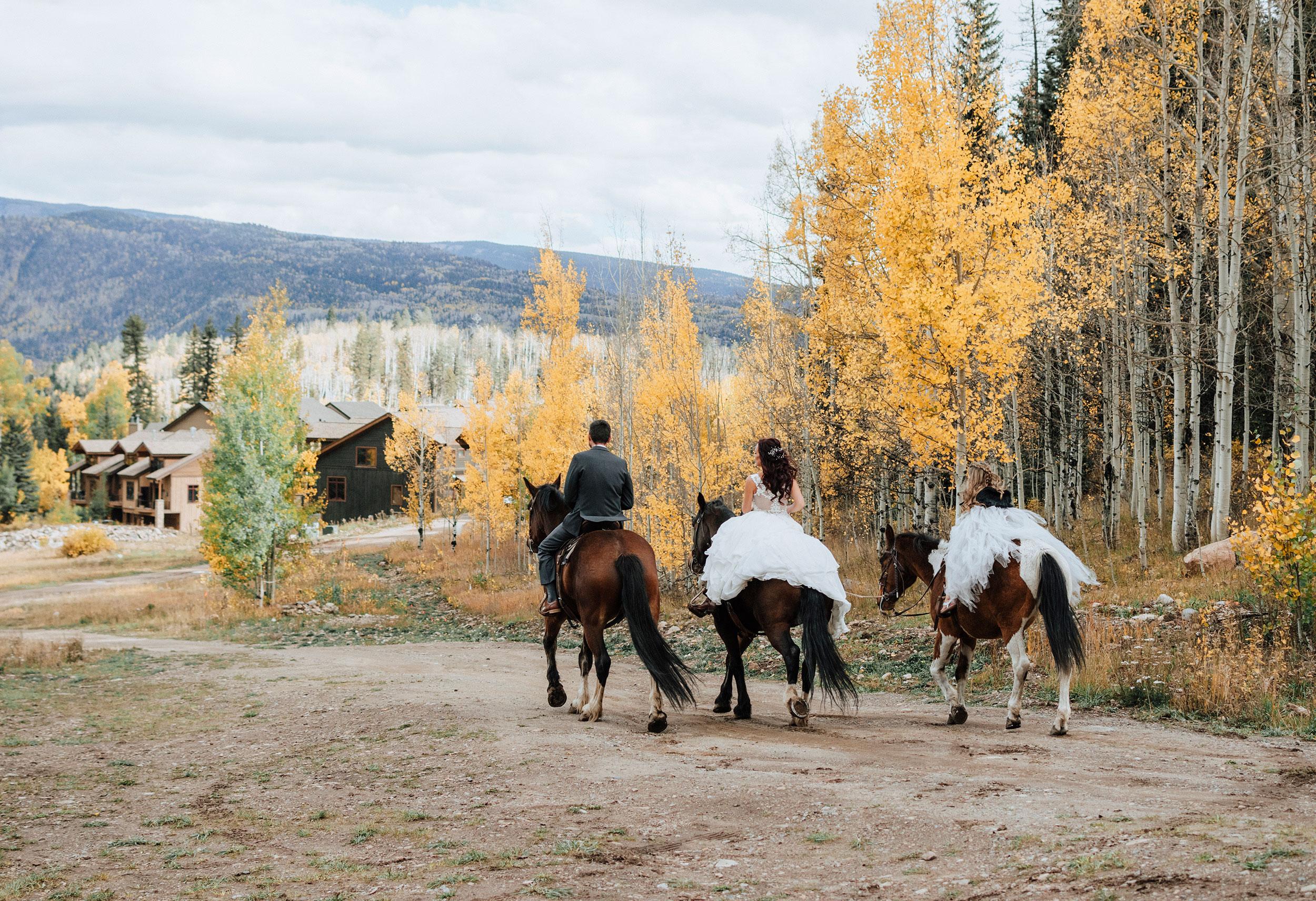 A Fall Wedding at Cascade Village Durango