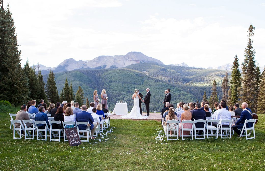 Mountaintop ceremony at Purgatory Resort, Durango CO