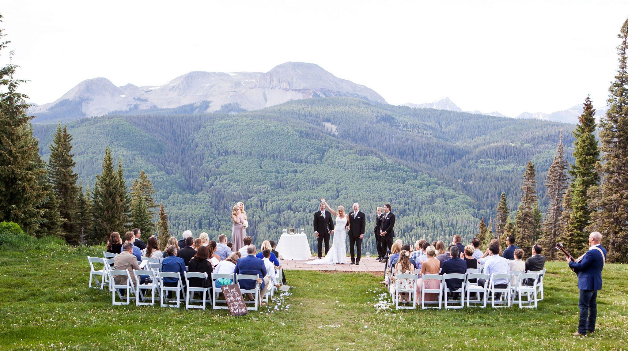 Mountaintop ceremony at Purgatory Resort, Durango CO