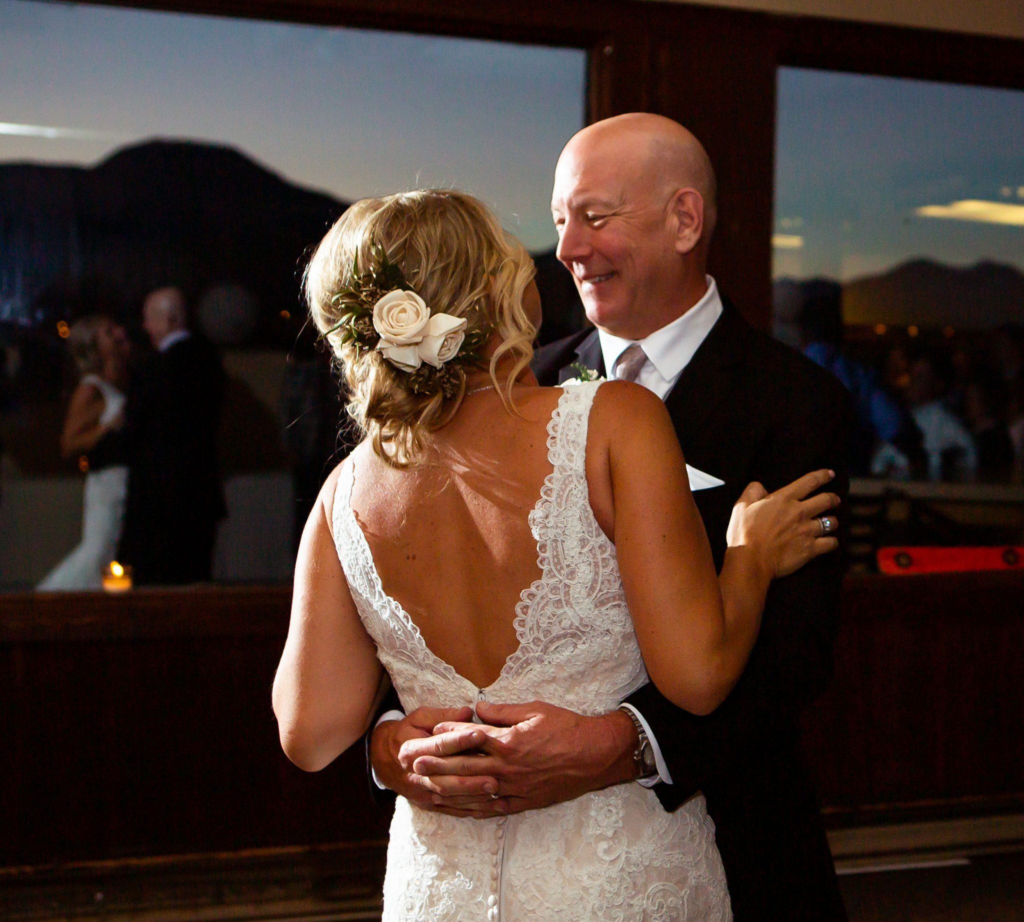 Mountaintop Wedding dance at Purgatory Resort, Durango CO