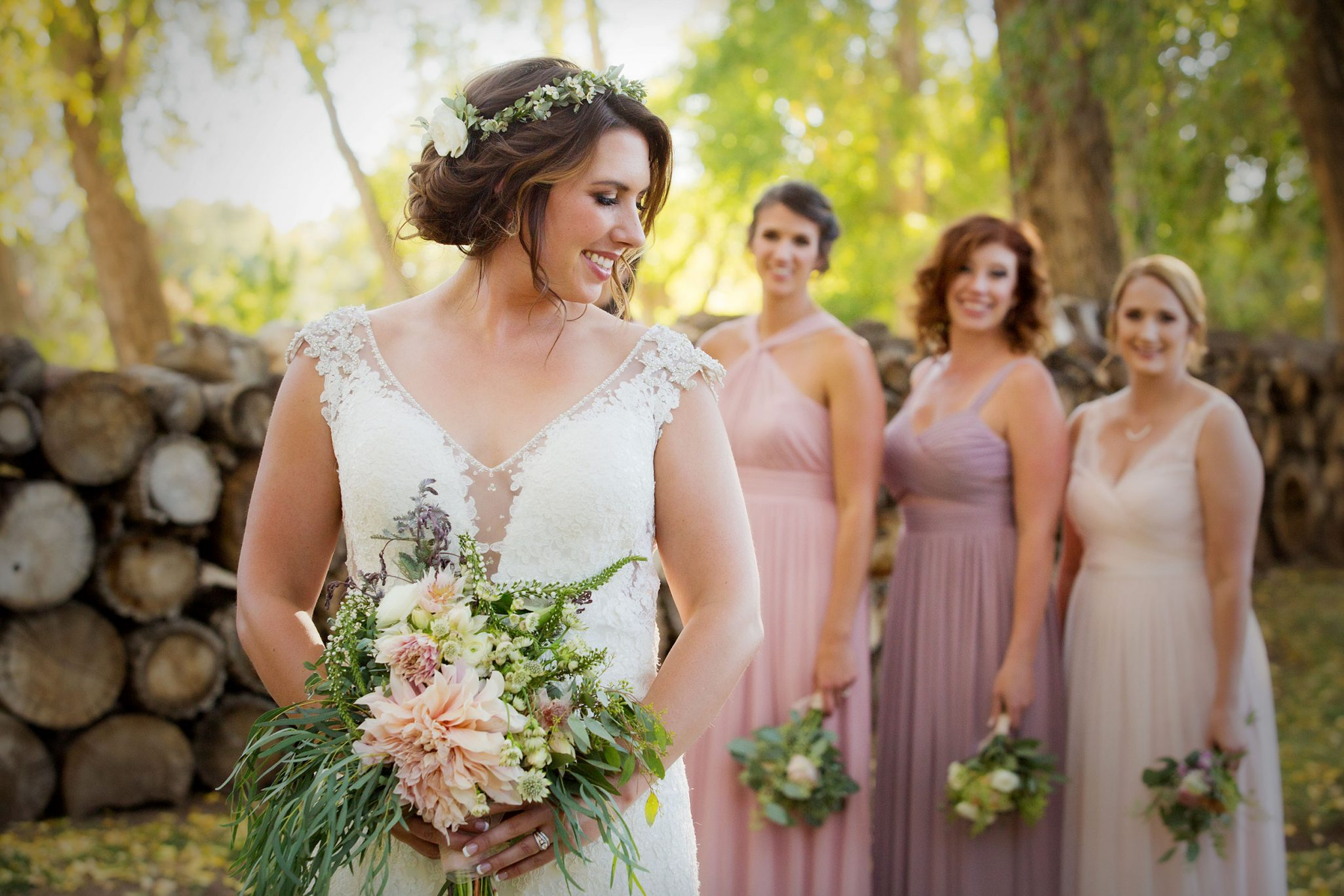 Bride Tribe with florals by Adela Floral, Durango Colorado