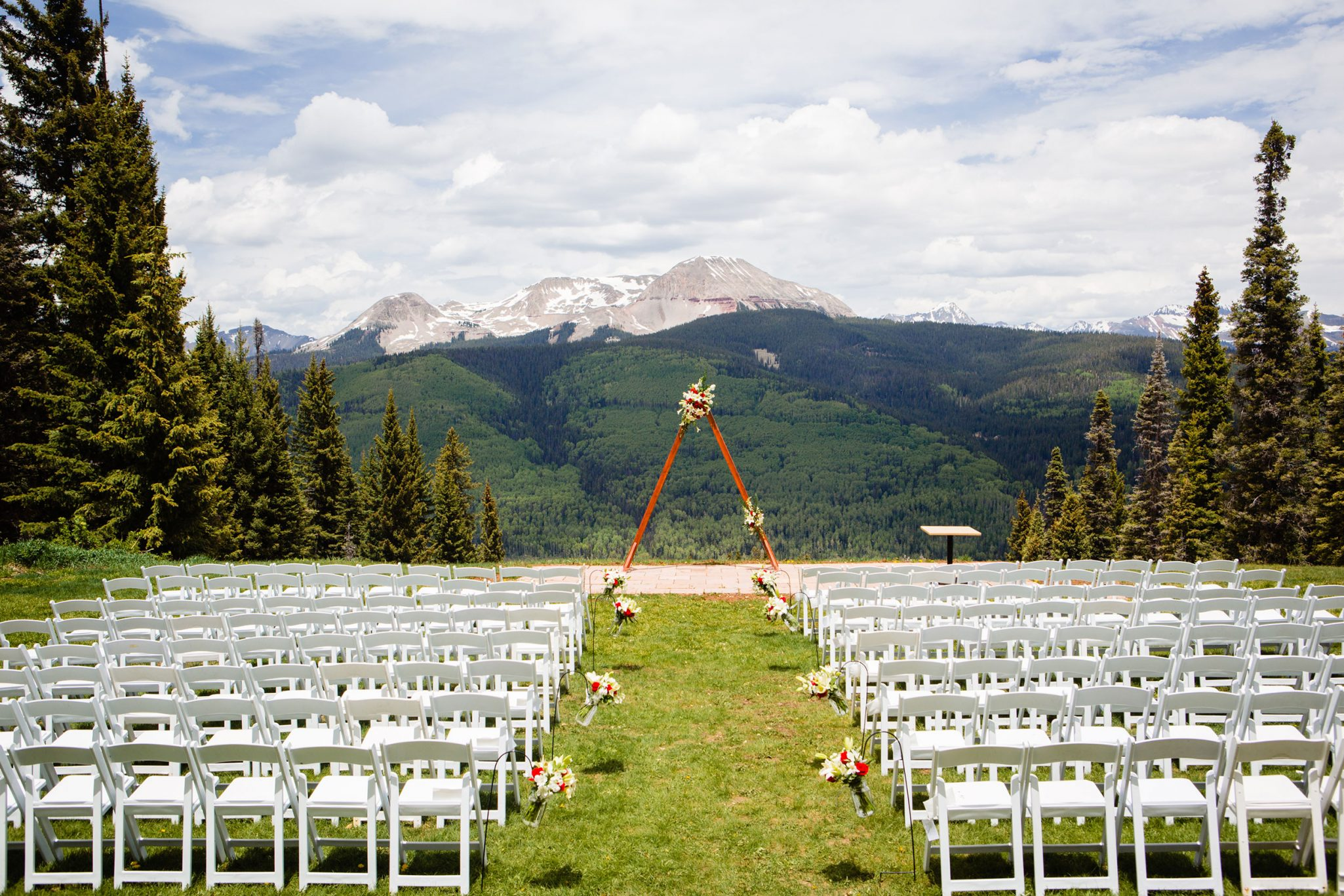 Dante's ceremony site at Purgatory Resort | Durango Weddings Magazine
