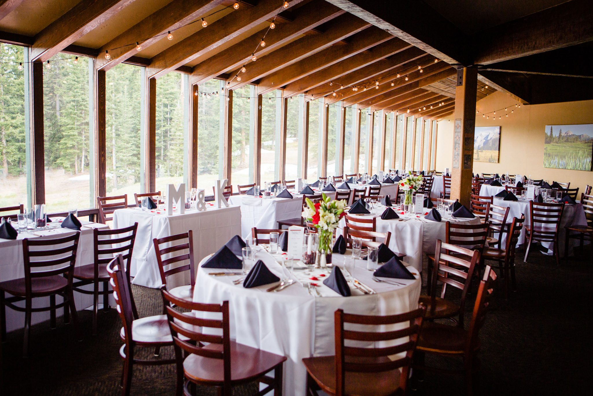 Dante's reception venue at Purgatory Resort | Durango Weddings Magazine