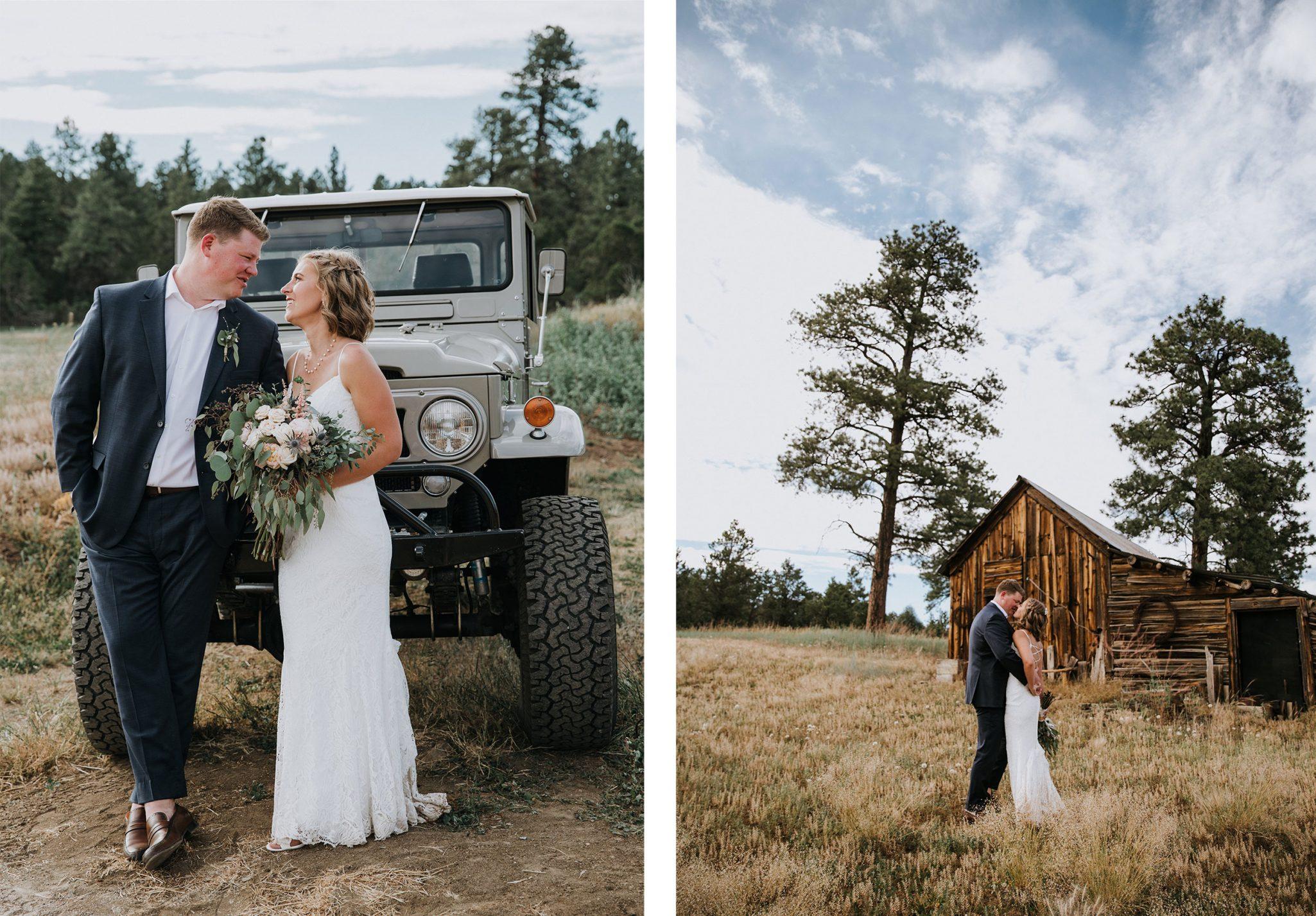 Reising stage wedding venue in Durango, Colorado