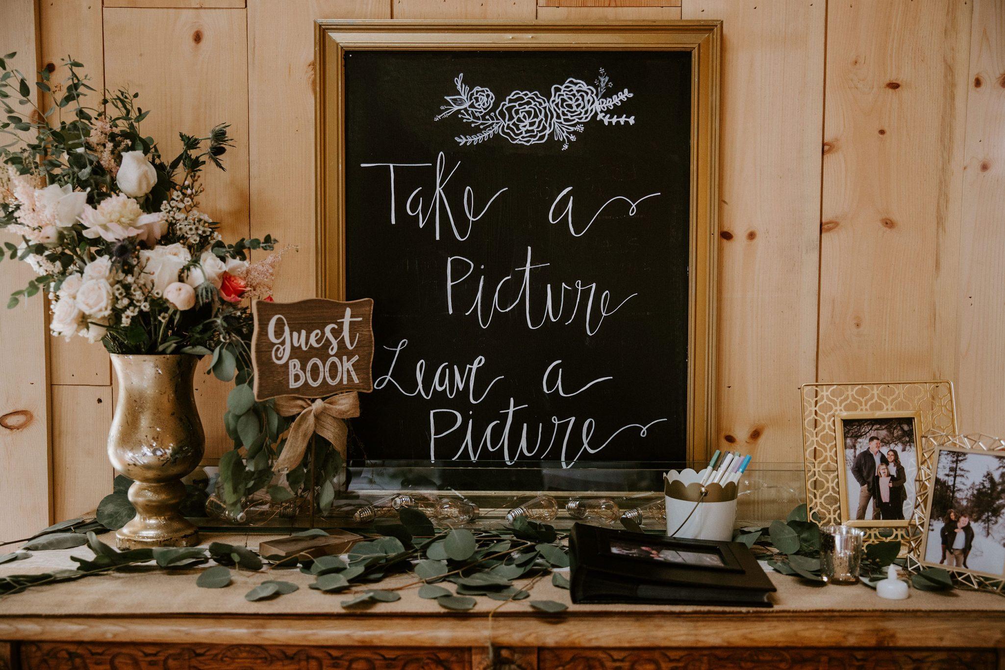 Guest book table - Durango Weddings Magazine