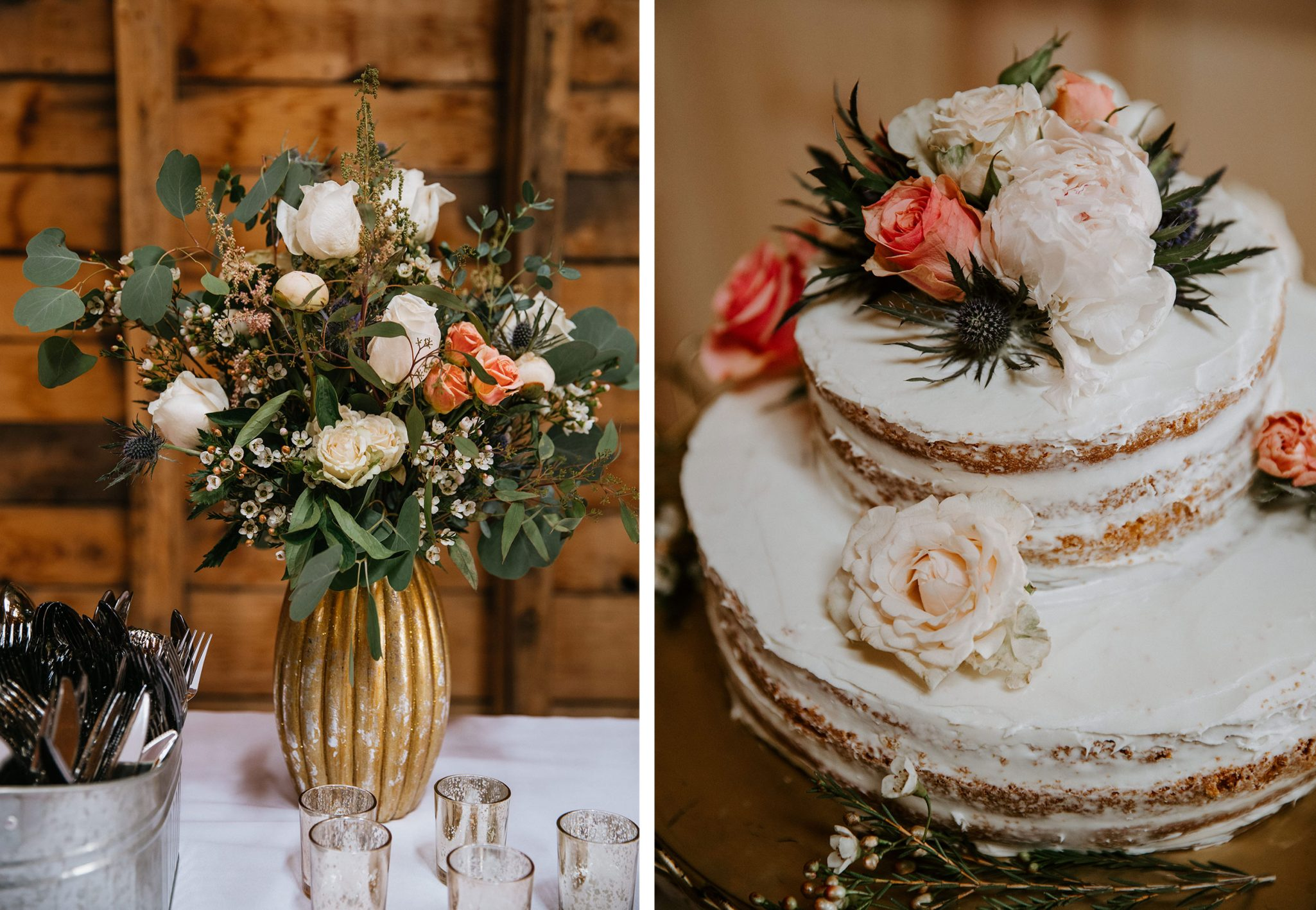 Wedding cake & florals - Durango Weddings Magazine