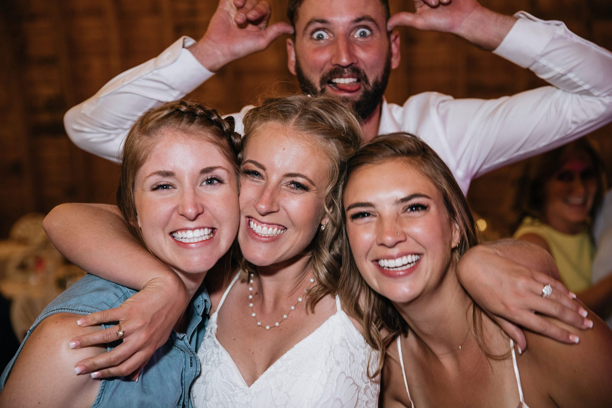 Wedding Reception photo booth fun at Reising Stage, Durango Colorado
