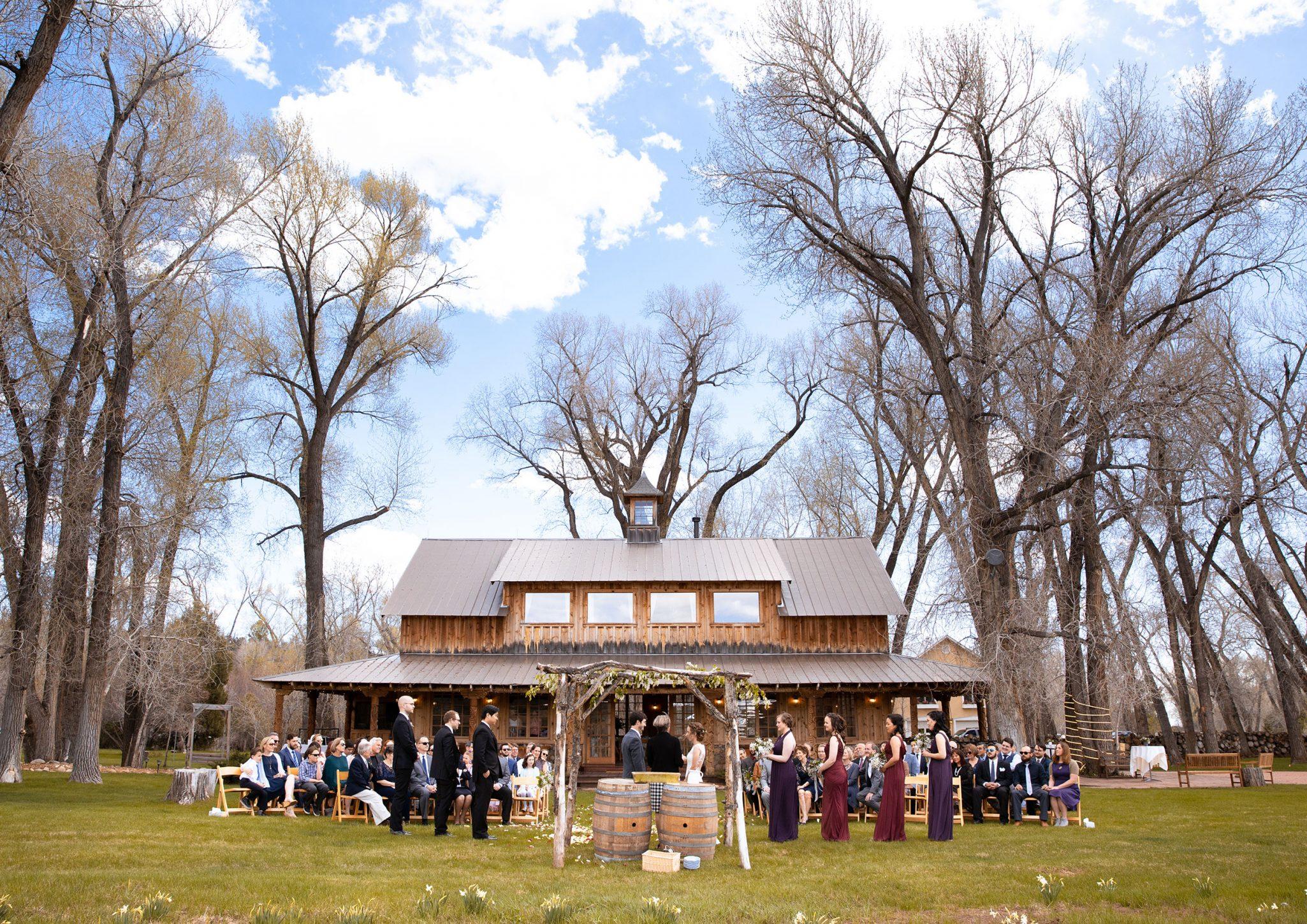 A spring ceremony at Ridgewood Event Center by Kara Cavalca