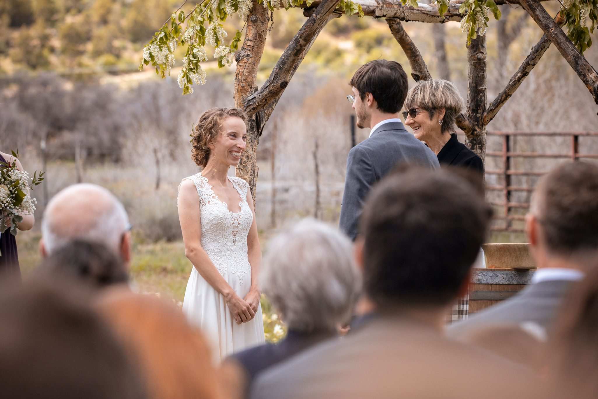 A spring ceremony at Ridgewood Event Center by Kara Cavalca