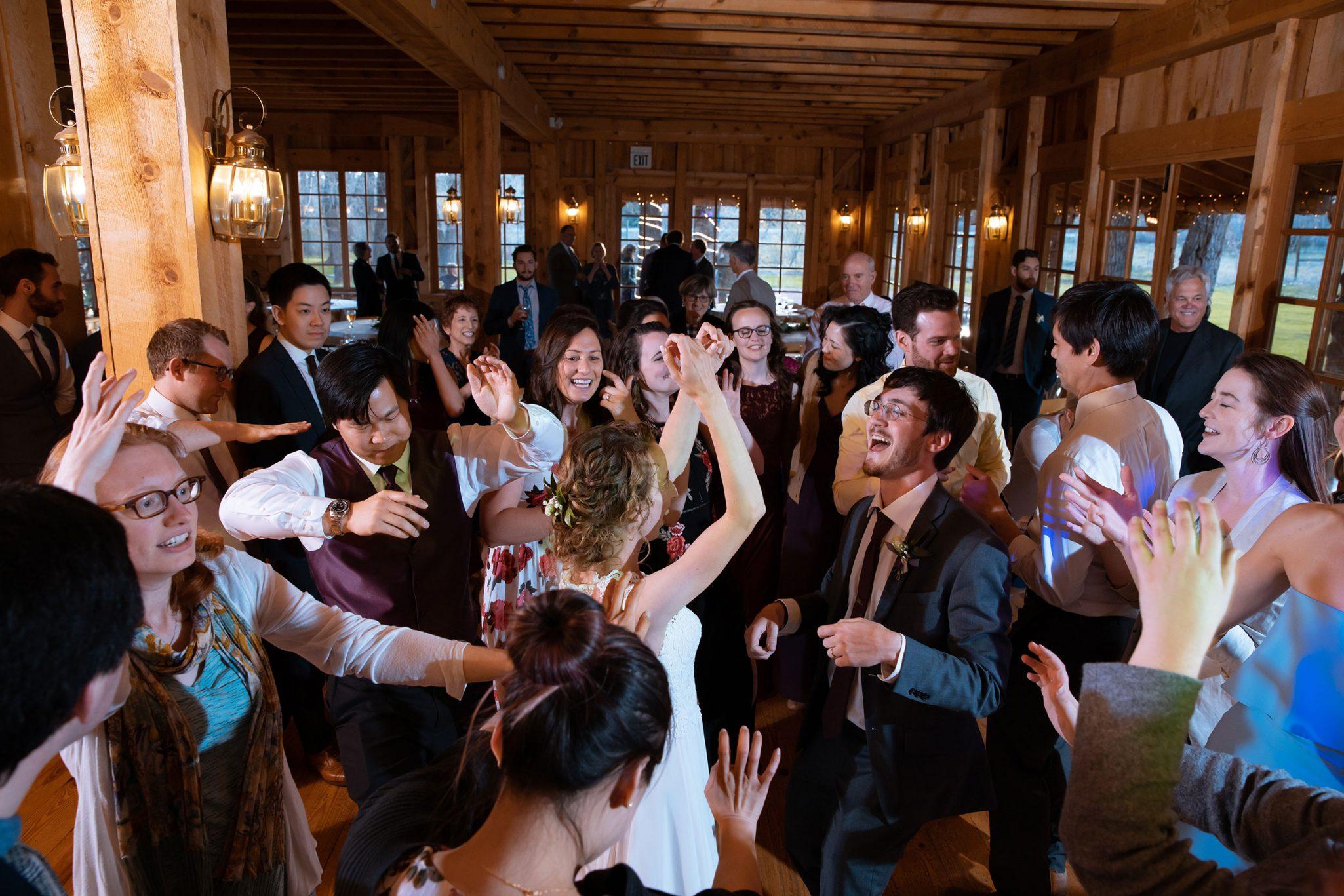 Reception dance party at Ridgewood Event Center by Kara Cavalca