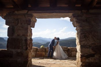Bride & Groom overlooking Durango, Colorado