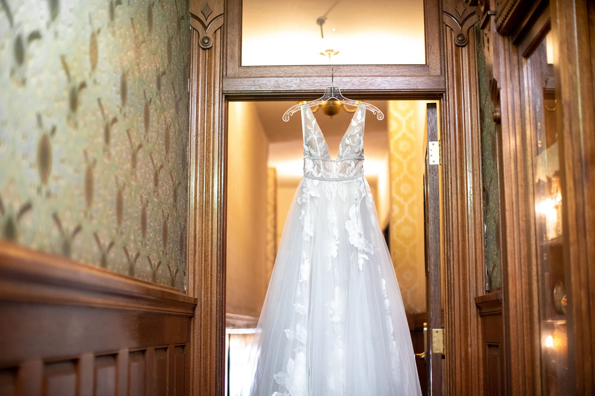 Wedding dress a the Strater Hotel
